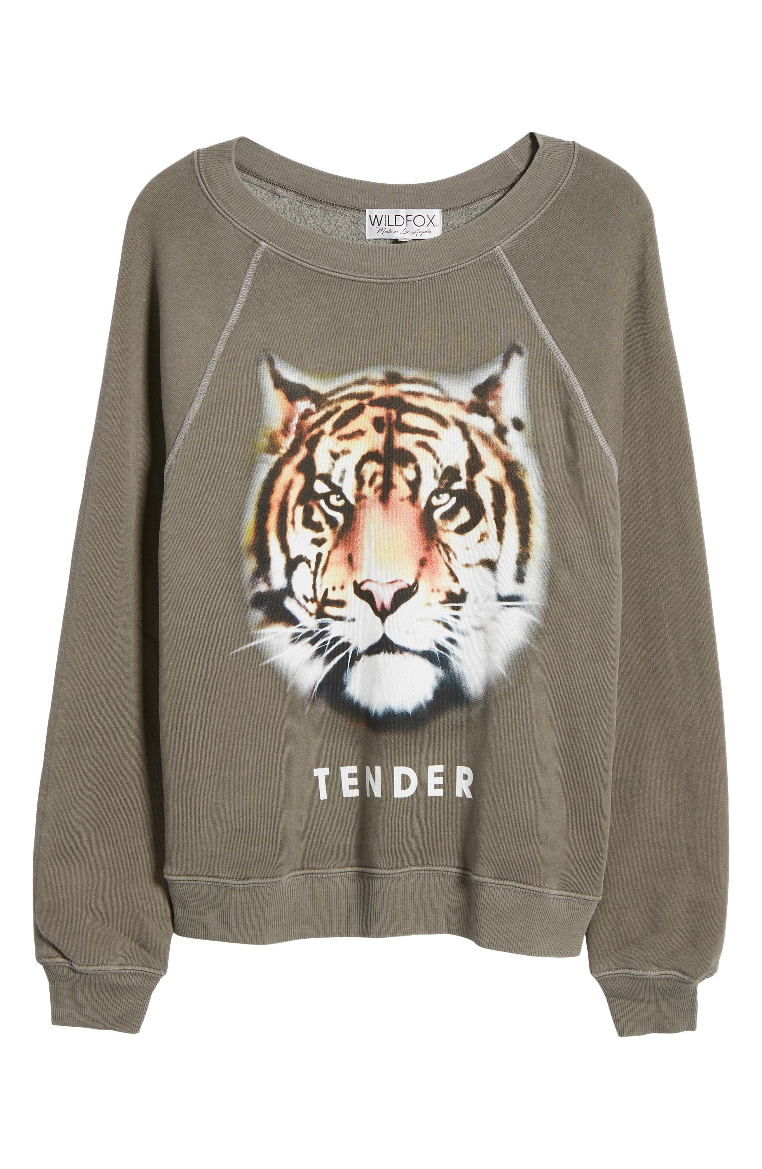 Tender - Sommers Sweatshirt,                             Alternate thumbnail 8, color,                             Od Green