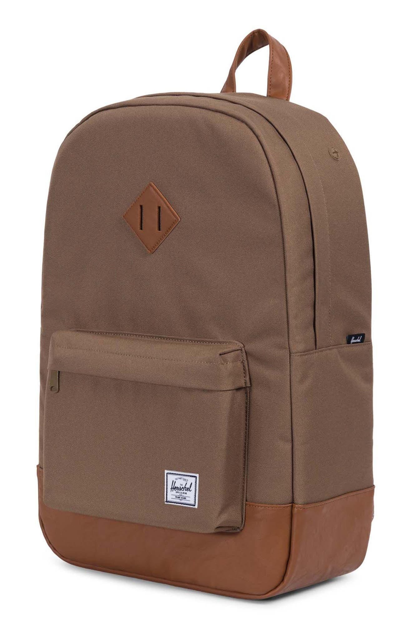 Heritage Backpack,                             Alternate thumbnail 4, color,                             Cub/ Tan