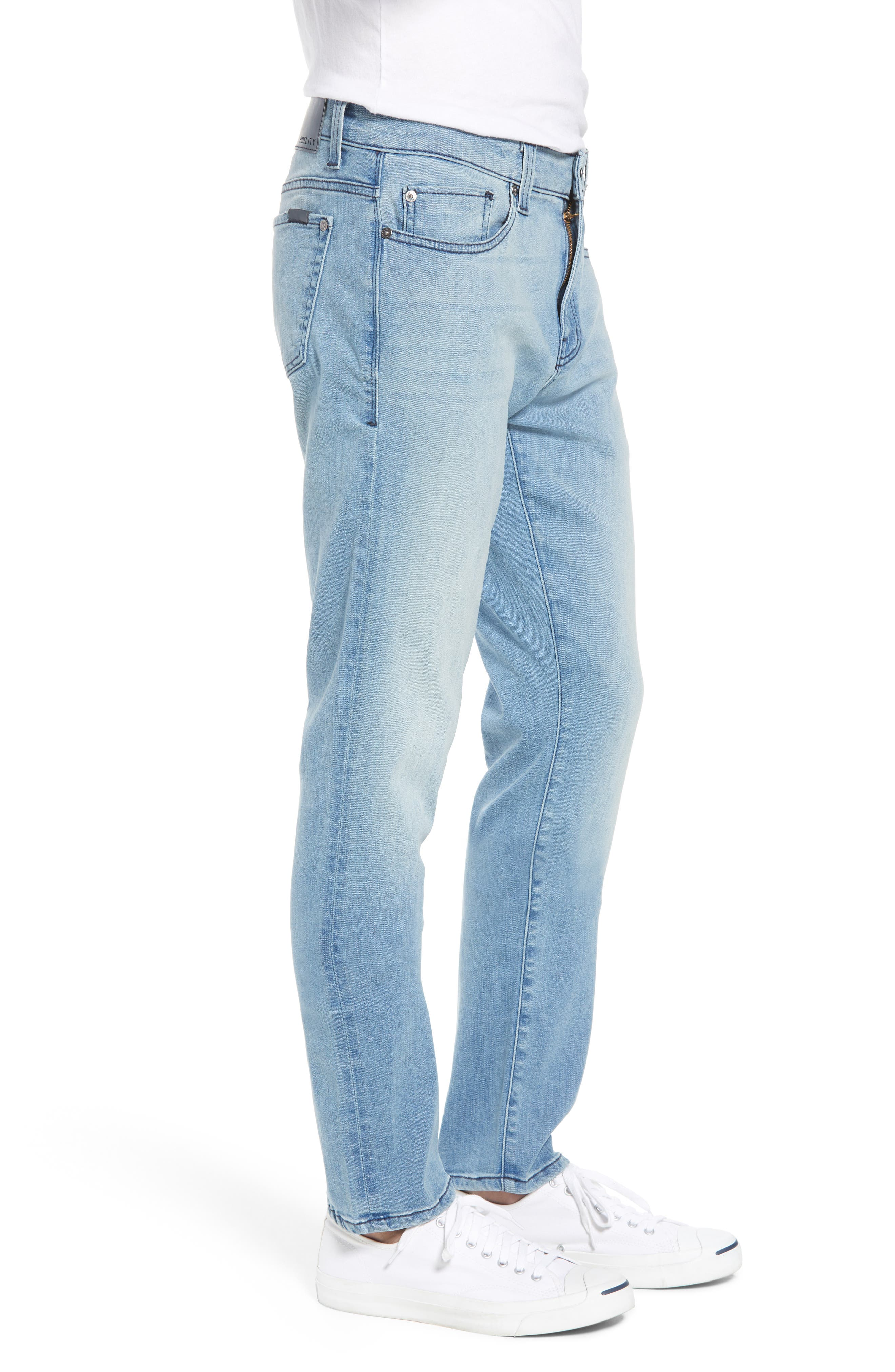 Torino Slim Fit Jeans,                             Alternate thumbnail 3, color,                             Abbey Blue