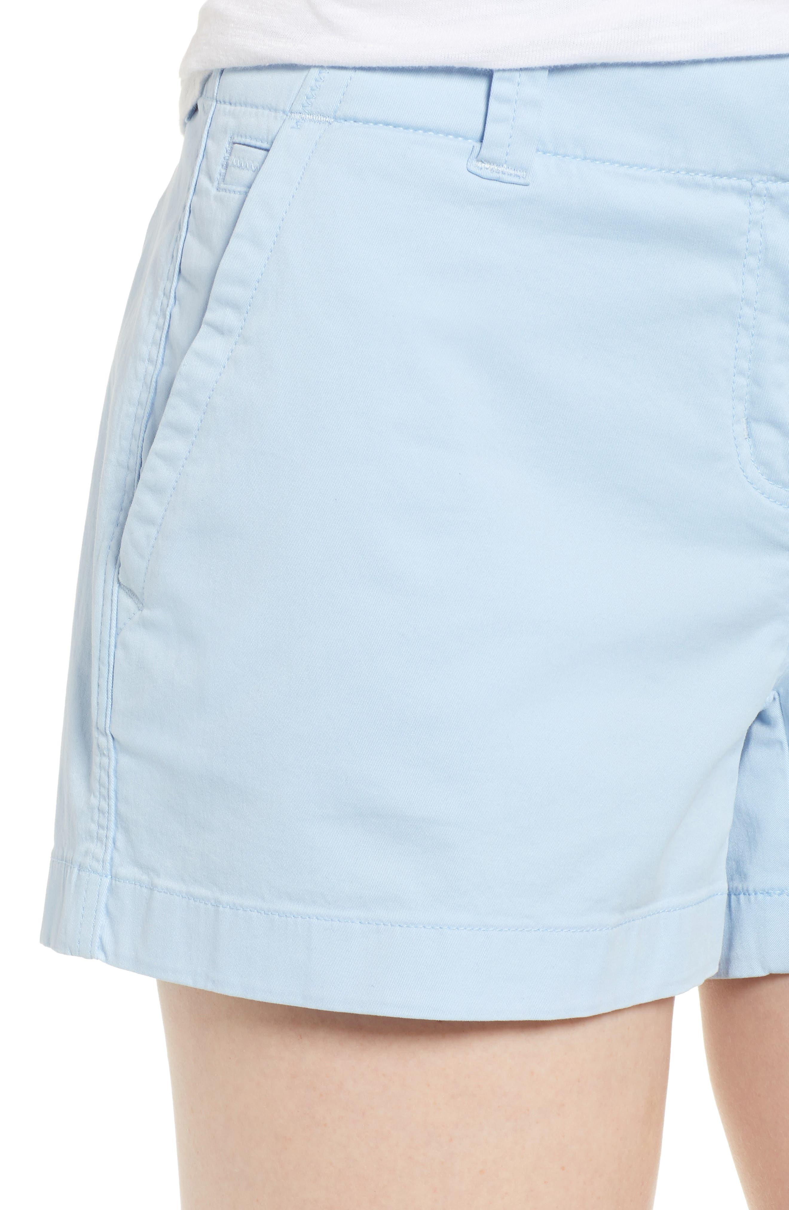 Everyday Stretch Cotton Shorts,                             Alternate thumbnail 4, color,                             Jake Blue
