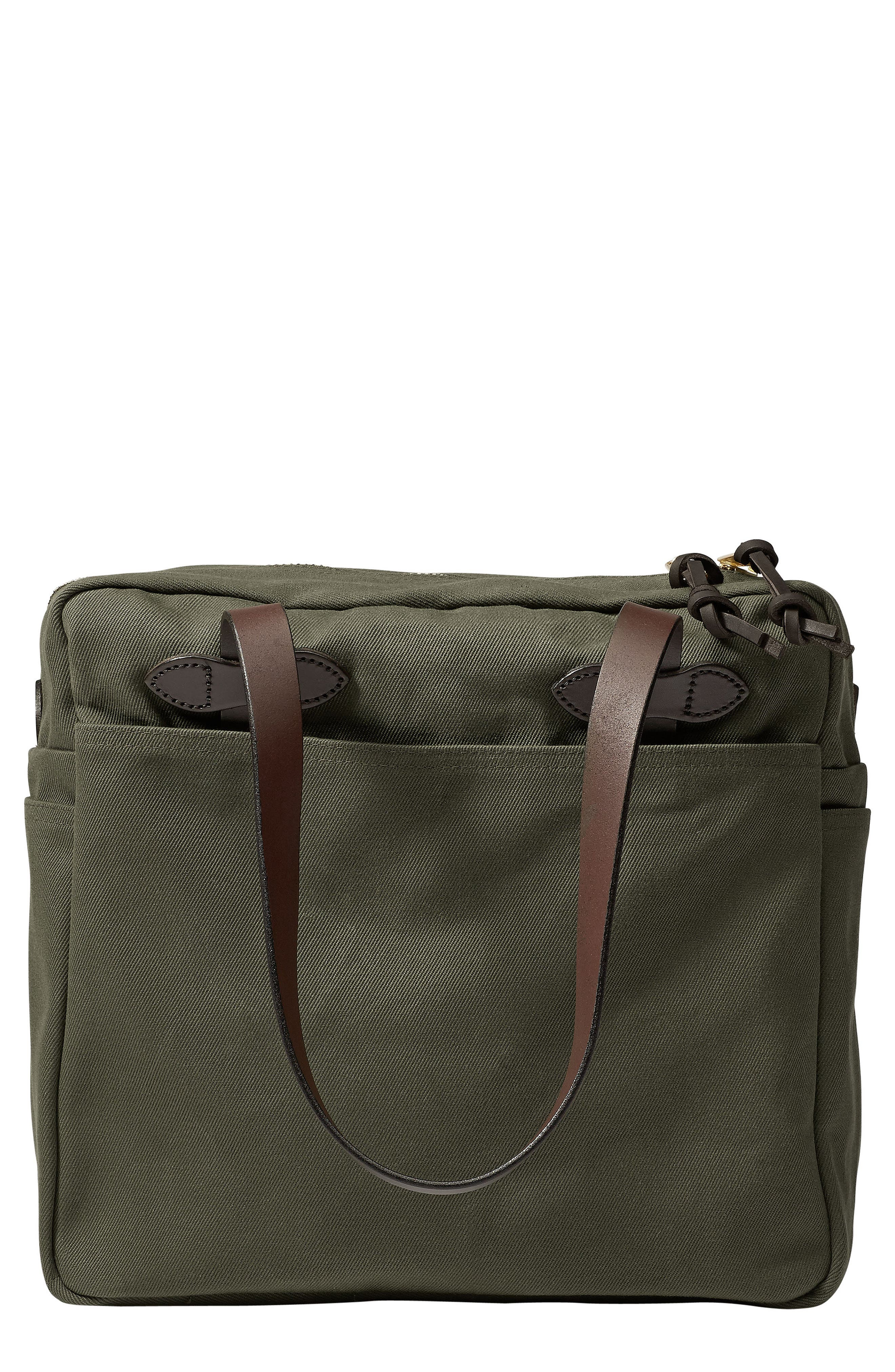 FILSON RUGGED TWILL ZIP TOTE BAG - GREEN
