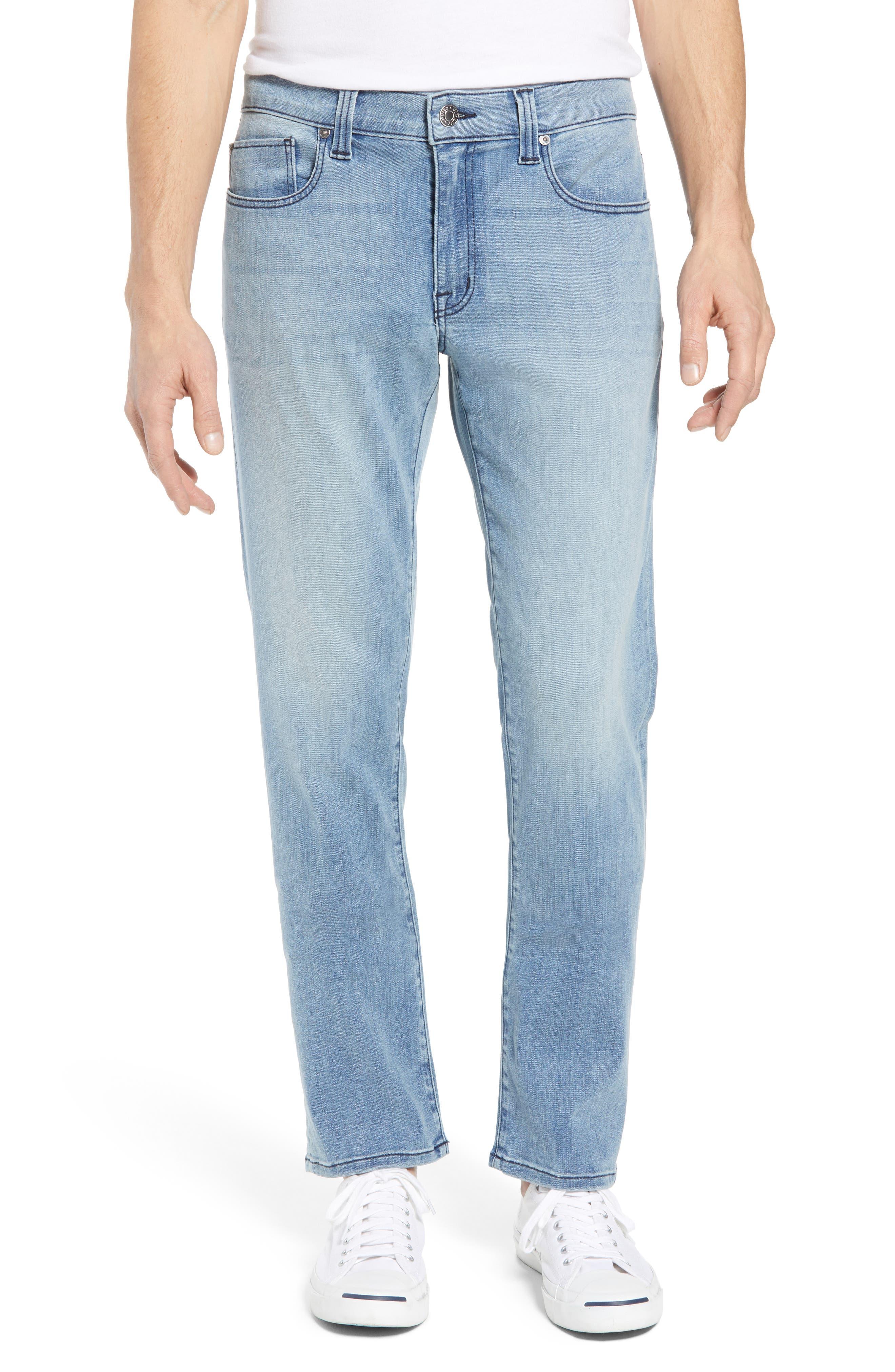 Jimmy Slim Straight Leg Jeans,                         Main,                         color, Abbey Blue