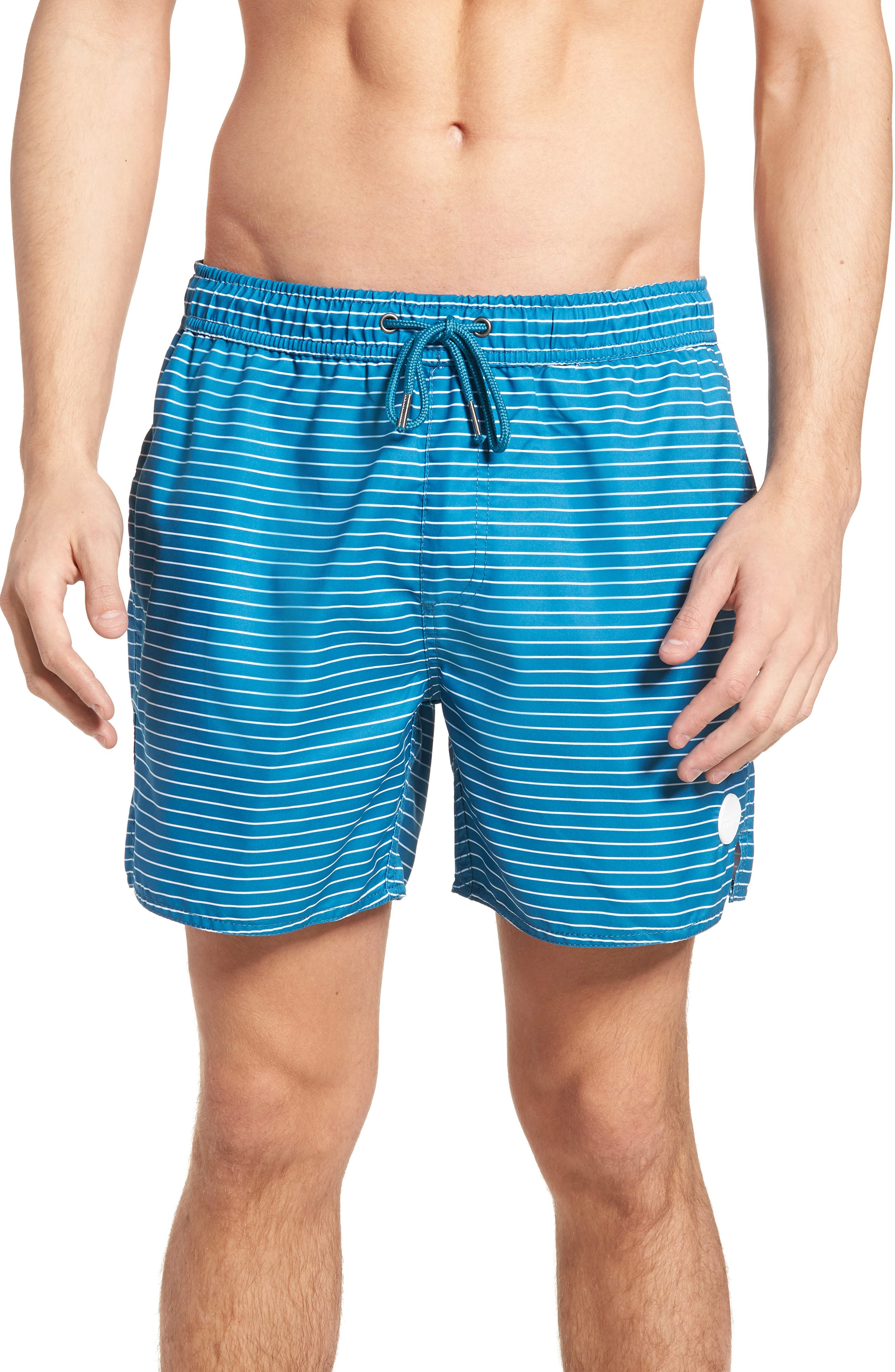 Boost Swim Trunks,                         Main,                         color, Teal