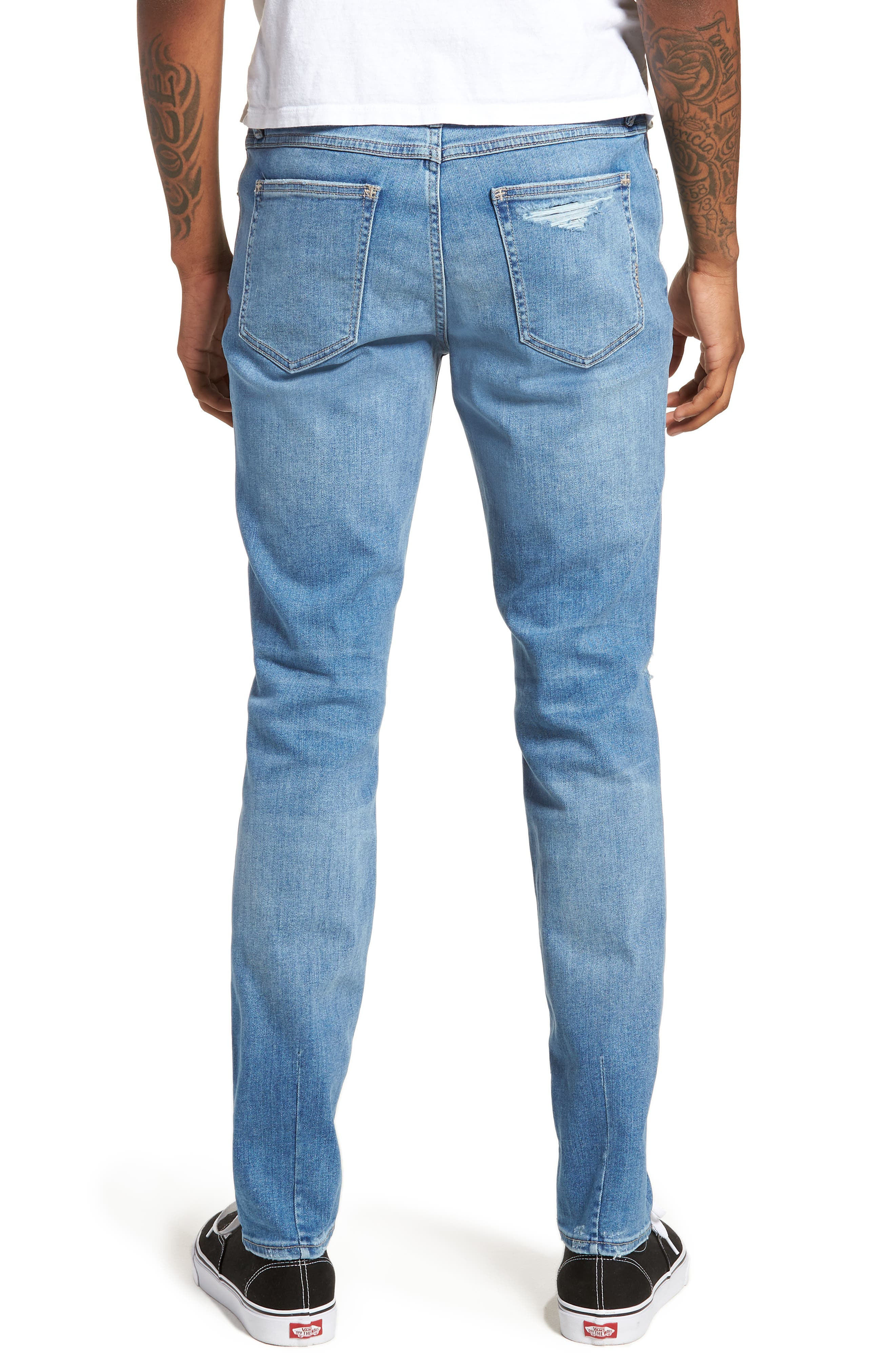 Iggy Skinny Fit Jeans,                             Alternate thumbnail 2, color,                             Broken Lights