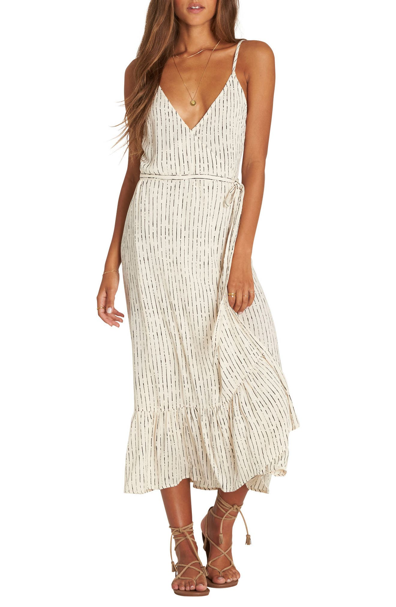 Billabong Hold Me Tight Wrap Midi Dress