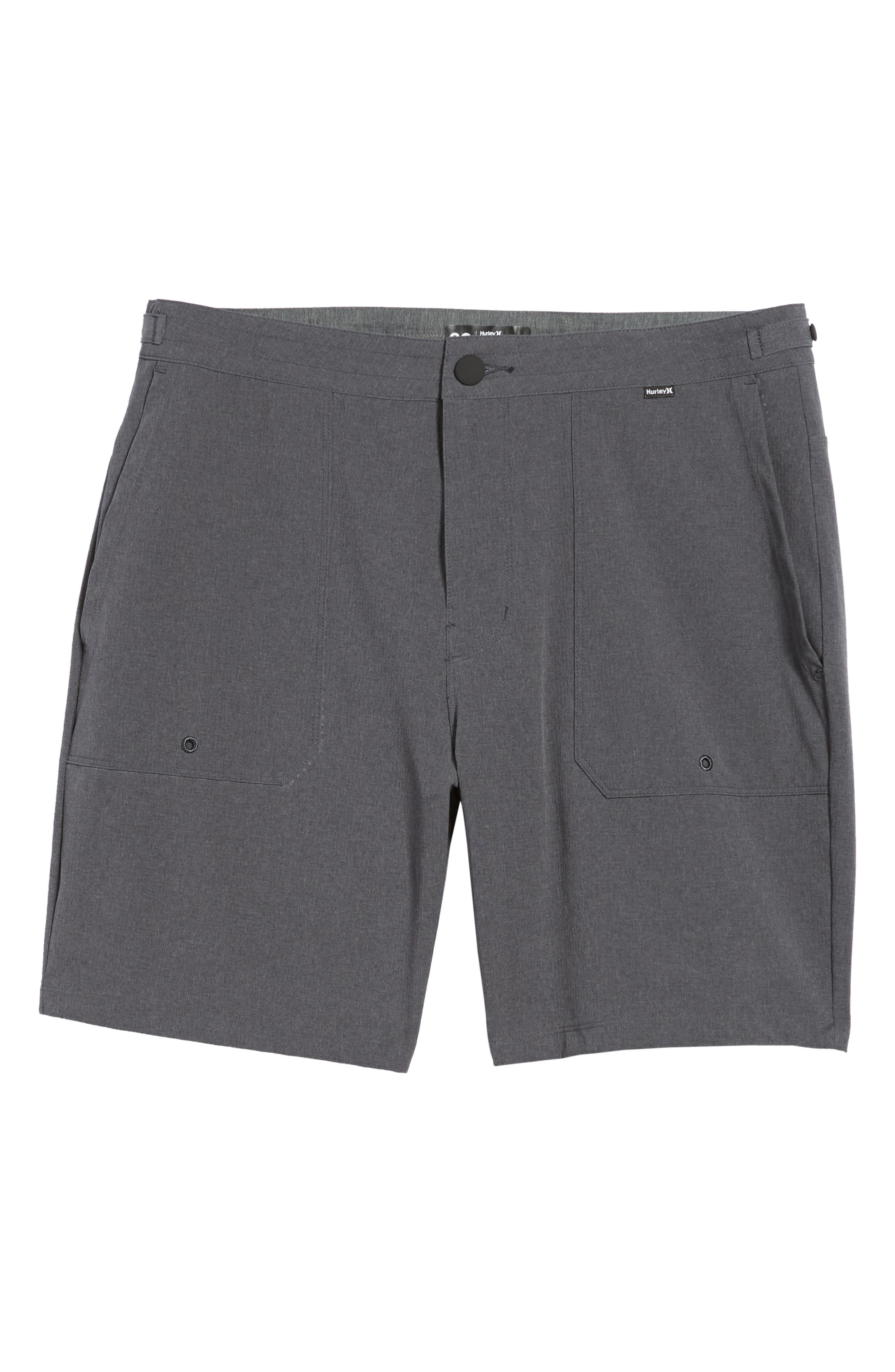 Phantom Coastline Shorts,                             Alternate thumbnail 6, color,                             Black Heather