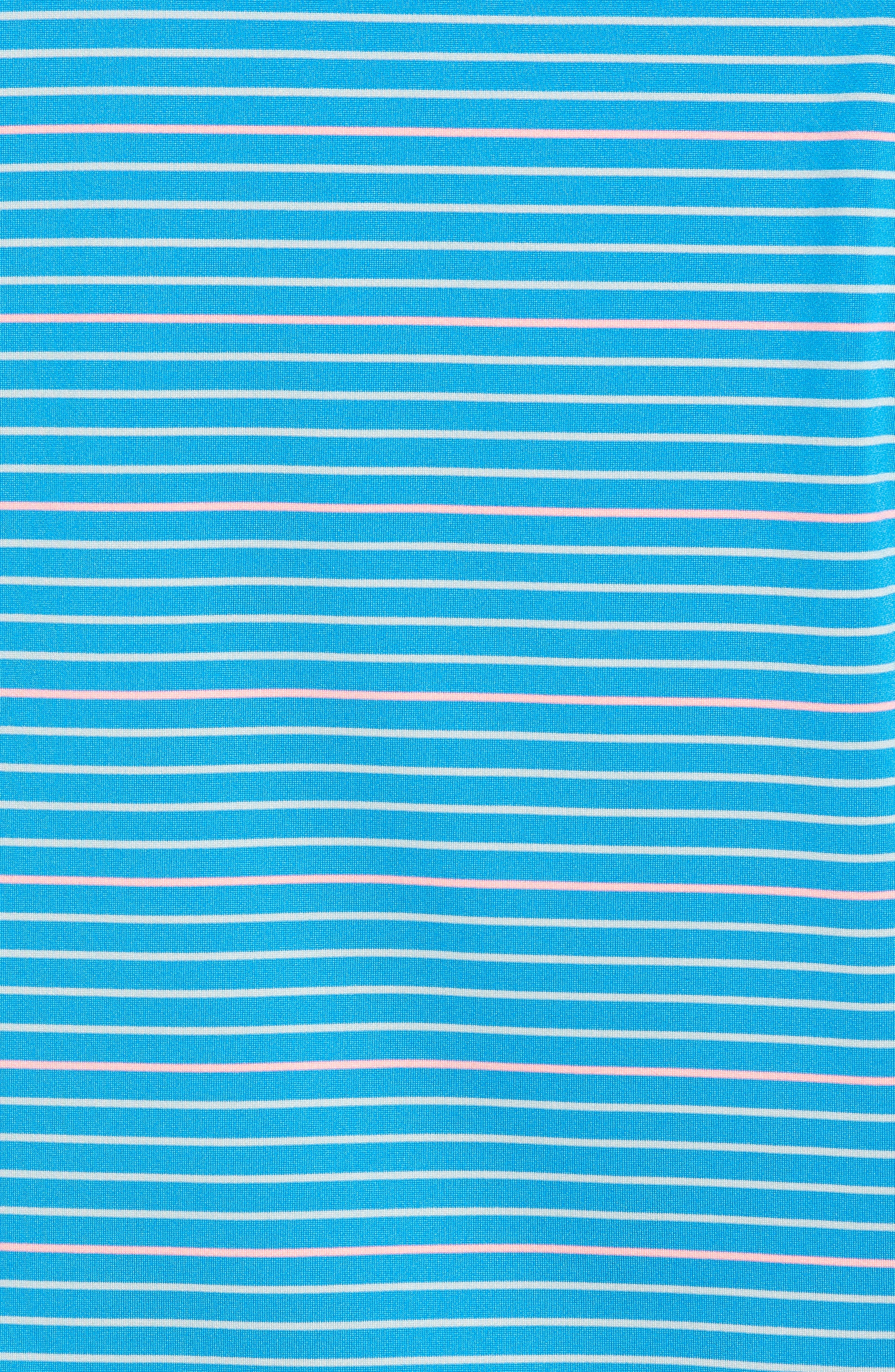 Swindell Stretch Stripe Polo,                             Alternate thumbnail 5, color,                             Dark Cerulean