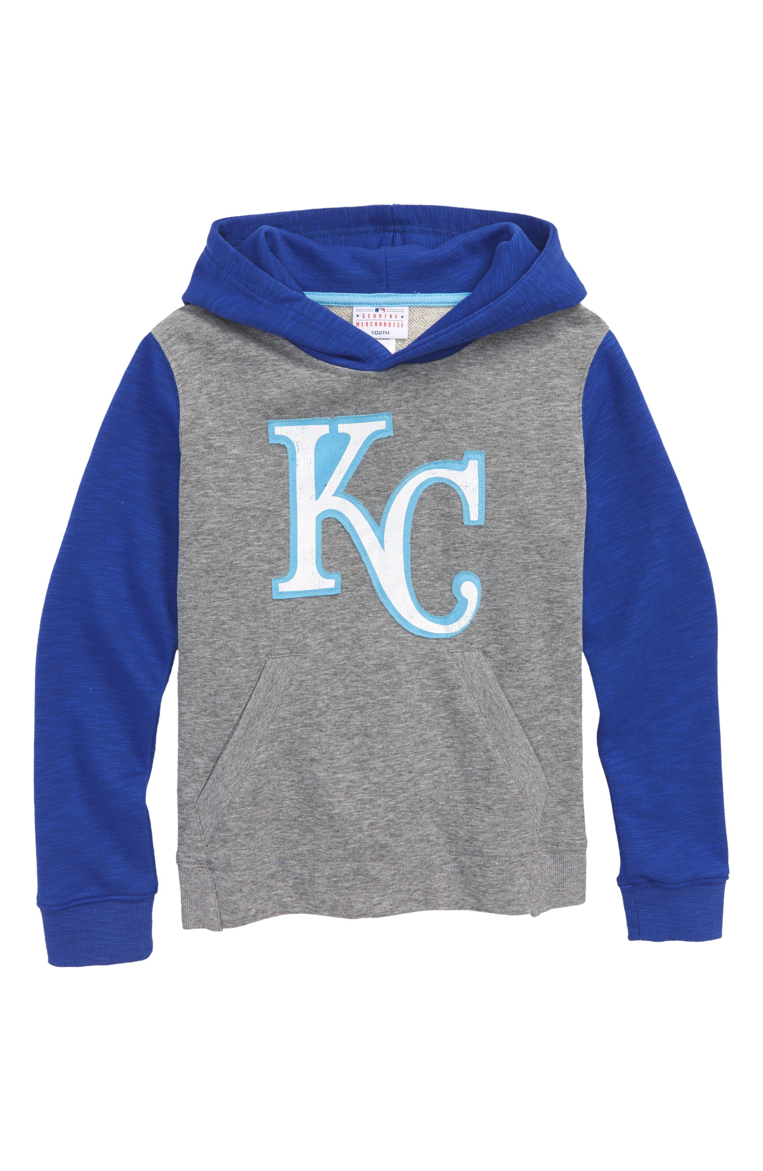 New Beginnings - Kansas City Royals Pullover Hoodie,                         Main,                         color, Gray