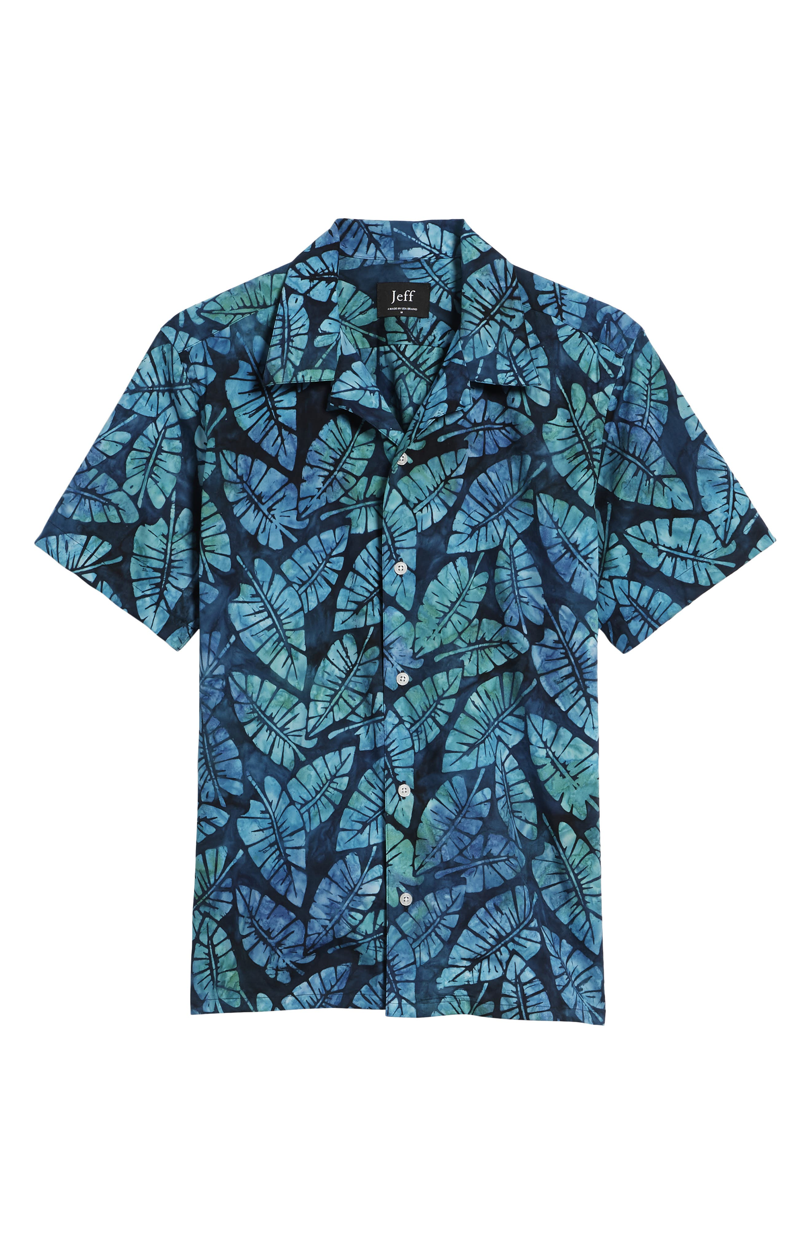 Kailua Trim Fit Print Sport Shirt,                             Alternate thumbnail 6, color,                             Green