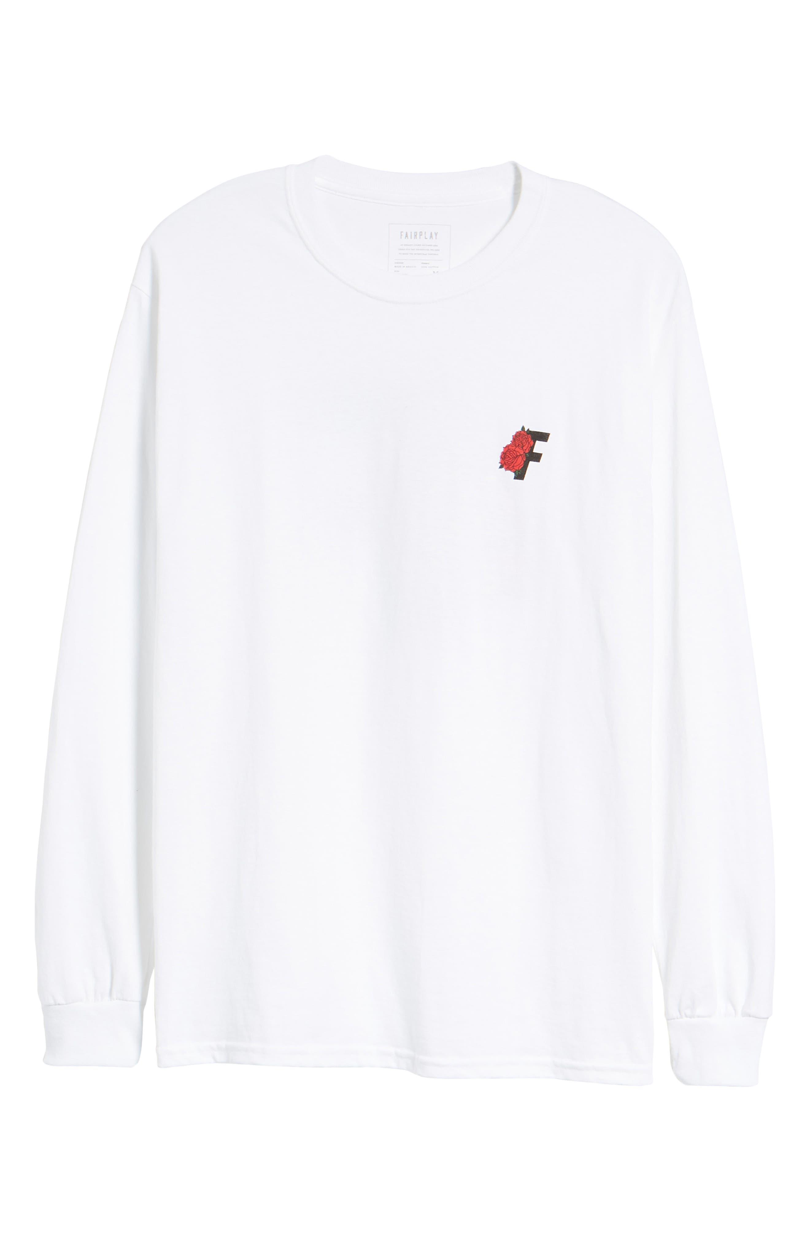 Roses Graphic T-Shirt,                             Alternate thumbnail 6, color,                             White