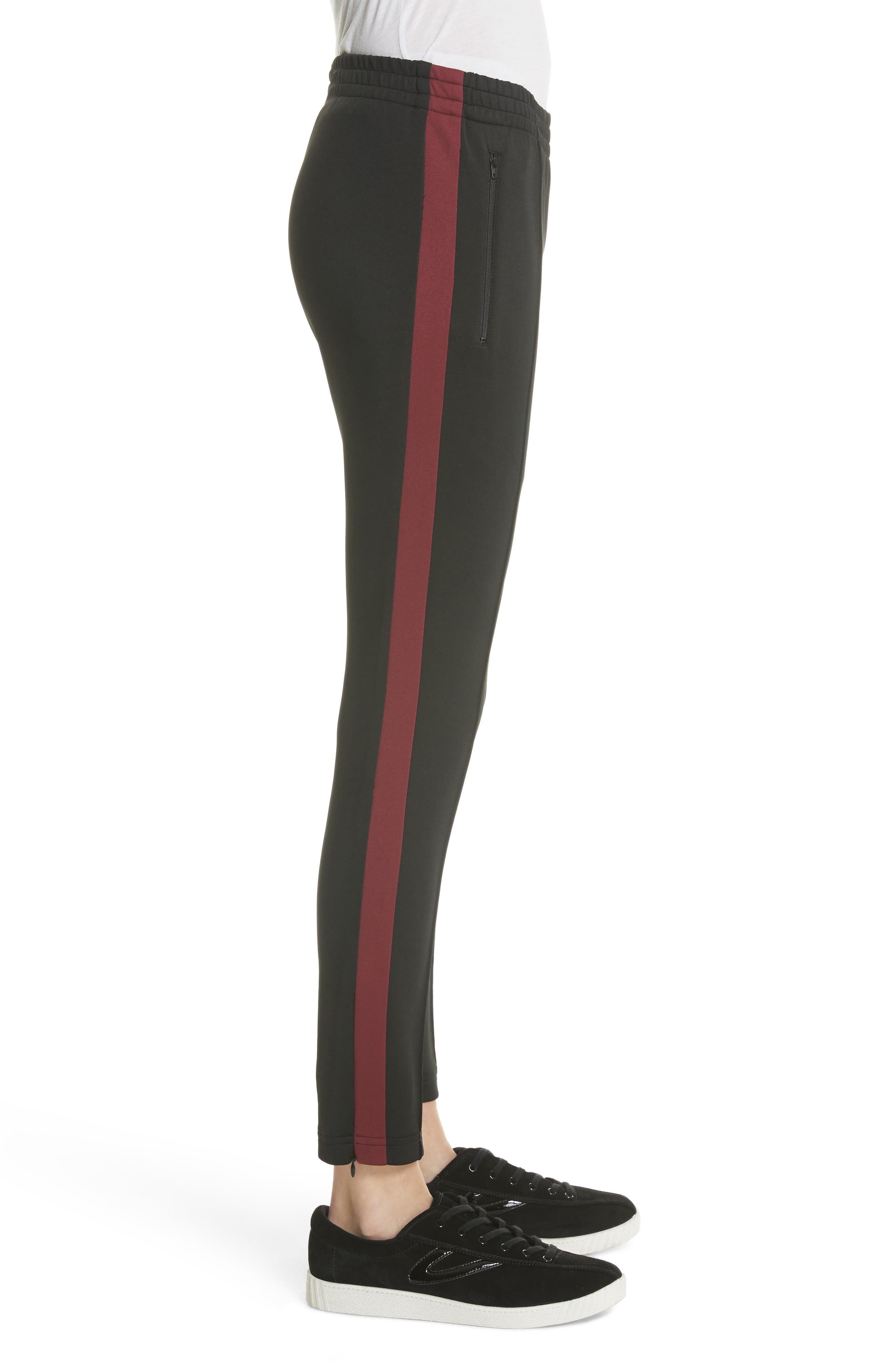 Tricot Track Pants,                             Alternate thumbnail 3, color,                             Black
