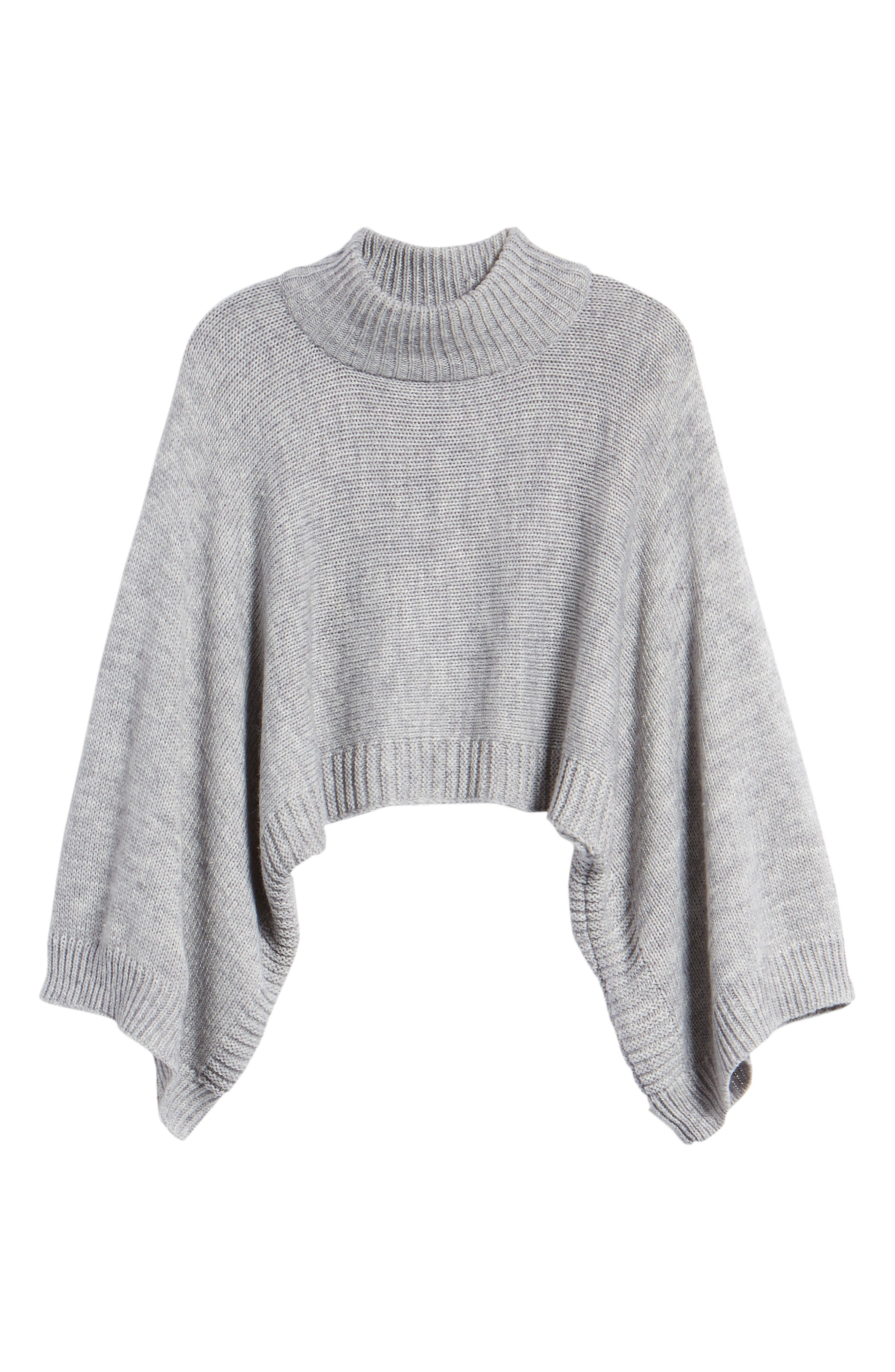 Bishop + Young Olivia Crop Sweater,                             Alternate thumbnail 7, color,                             Grey
