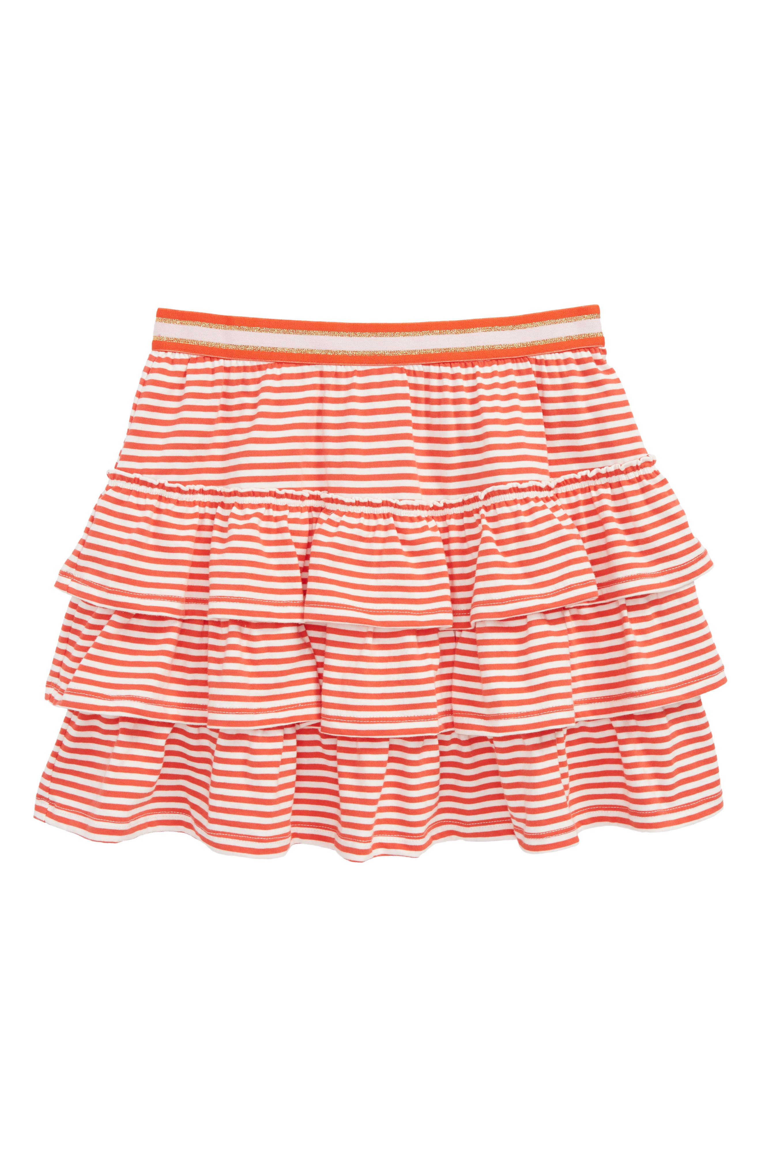 Ruffle Skort,                         Main,                         color, Rosehip Red/ Ivory Red