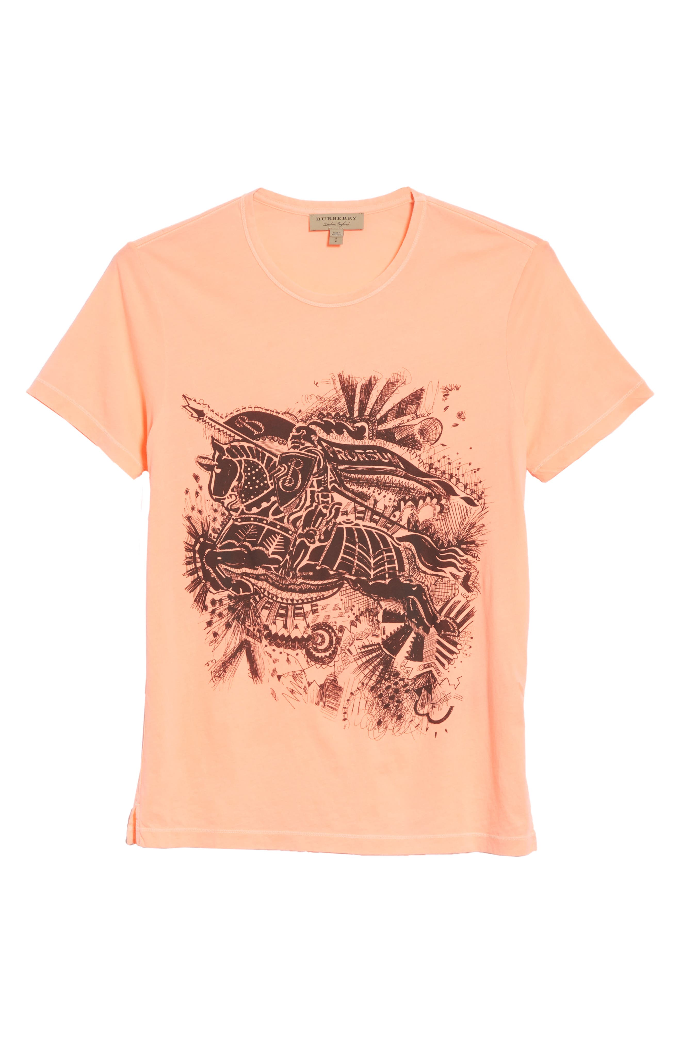 Rhine Graphic T-Shirt,                             Alternate thumbnail 6, color,                             Bright Clementine