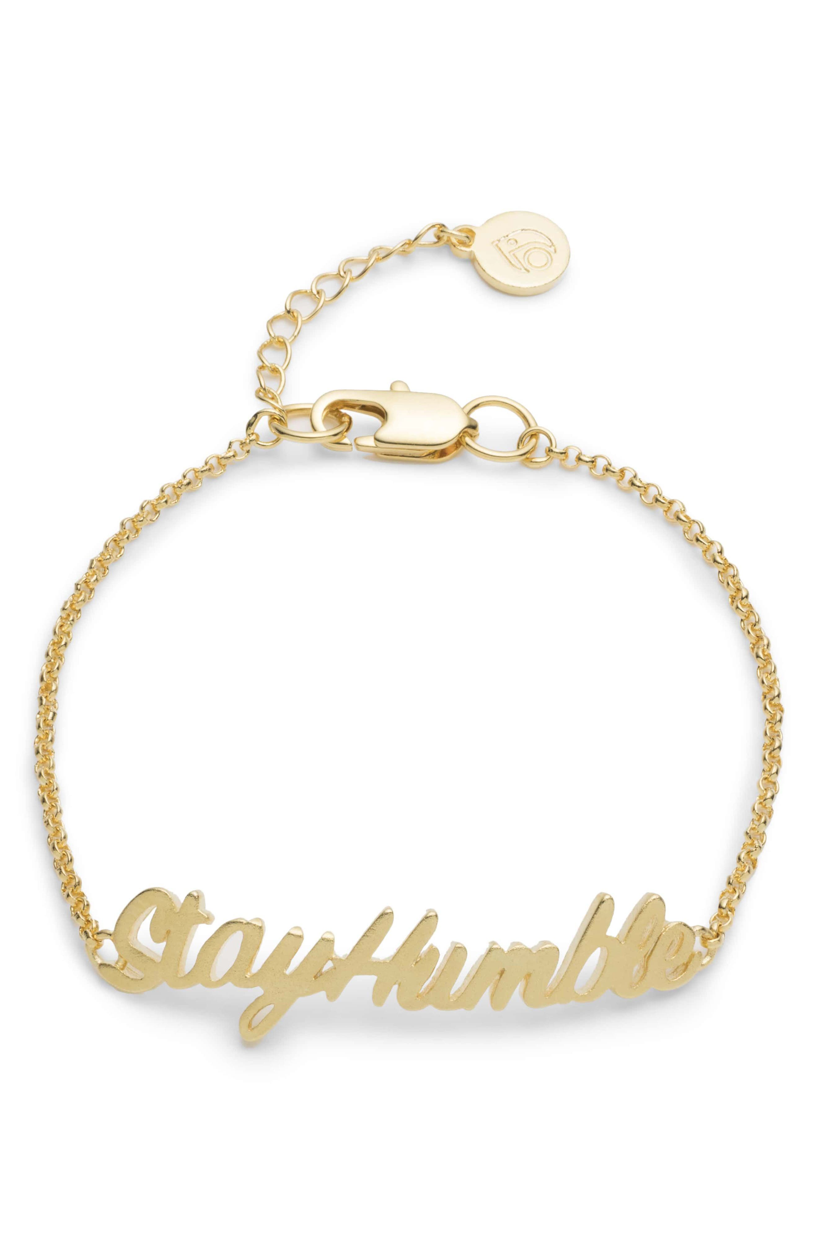 Stay Humble Bracelet,                         Main,                         color, Gold