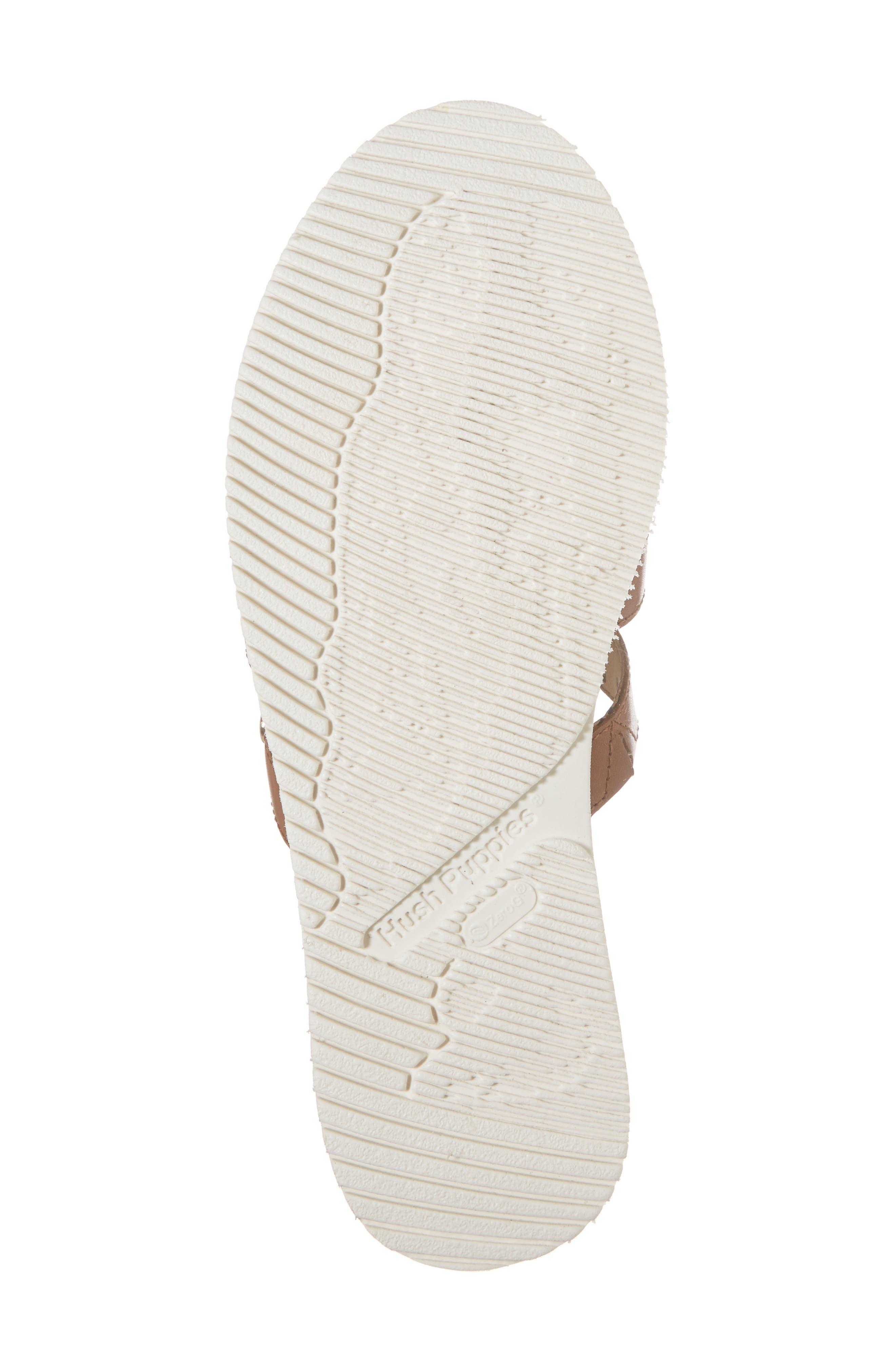 Braid Slide Sandal,                             Alternate thumbnail 6, color,                             Tan Leather