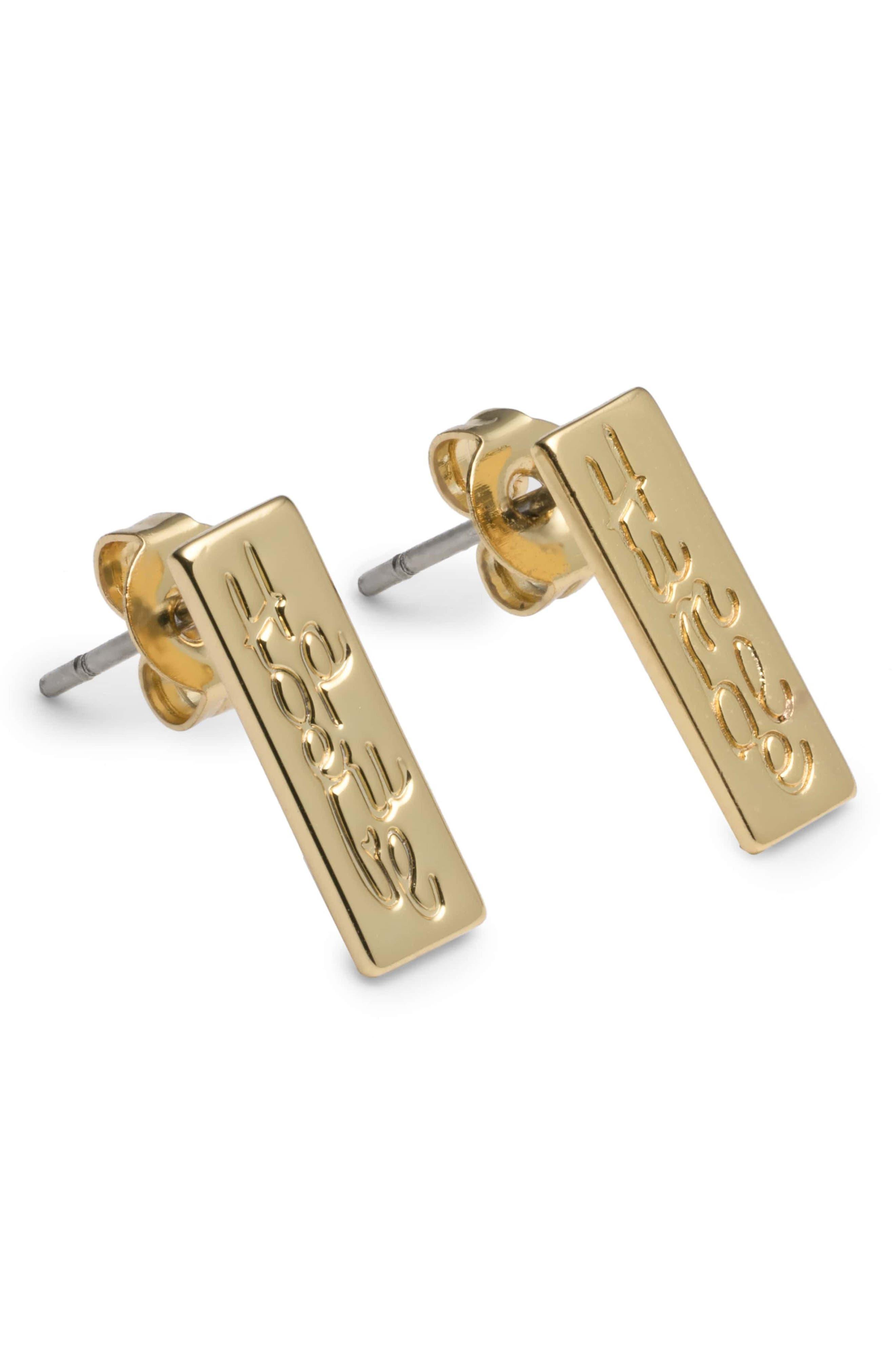 Humble/Hopeful Combo Earrings,                             Main thumbnail 1, color,                             Gold