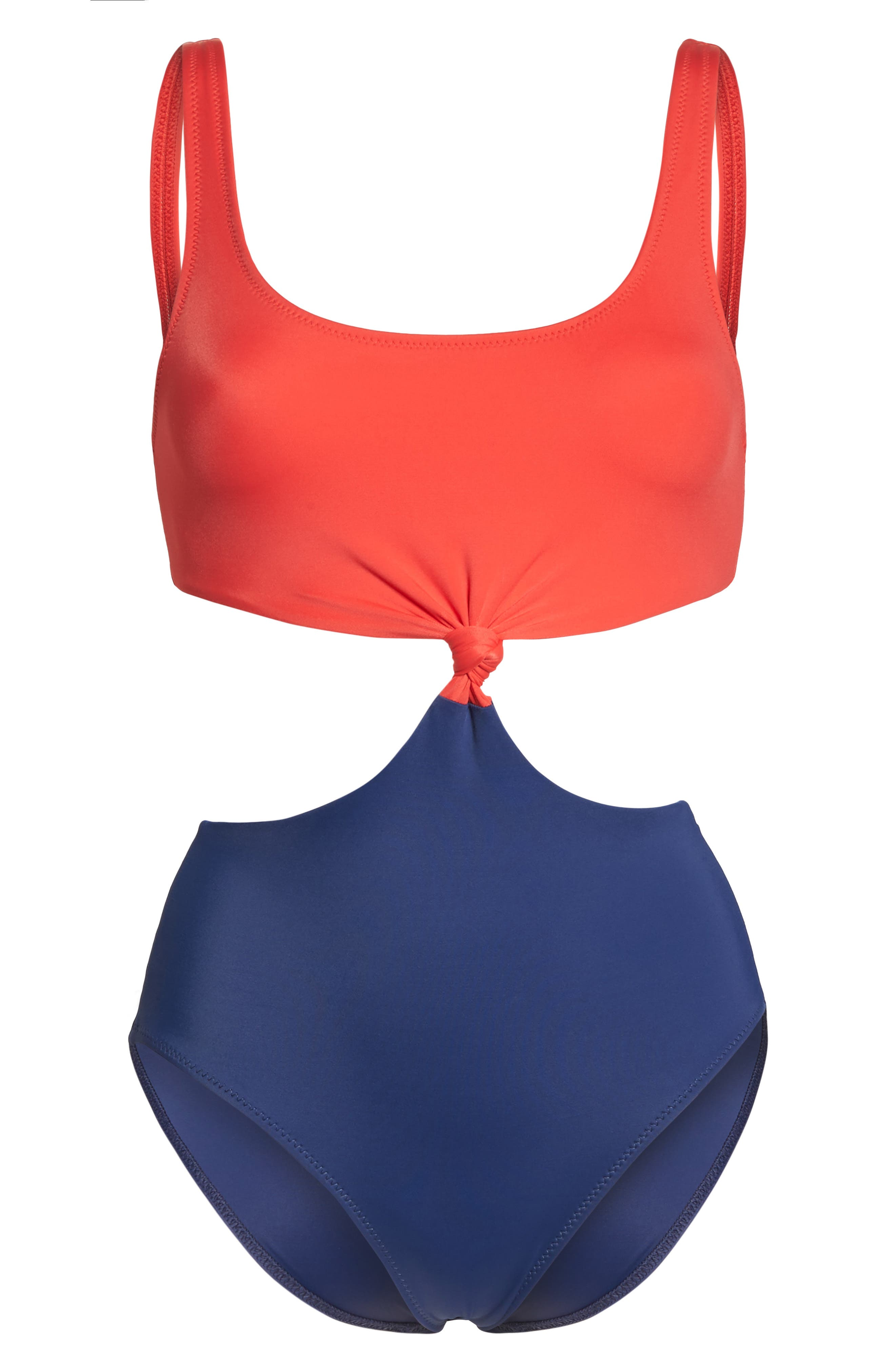 The Bailey One-Piece Swimsuit,                             Alternate thumbnail 6, color,                             Red Navy