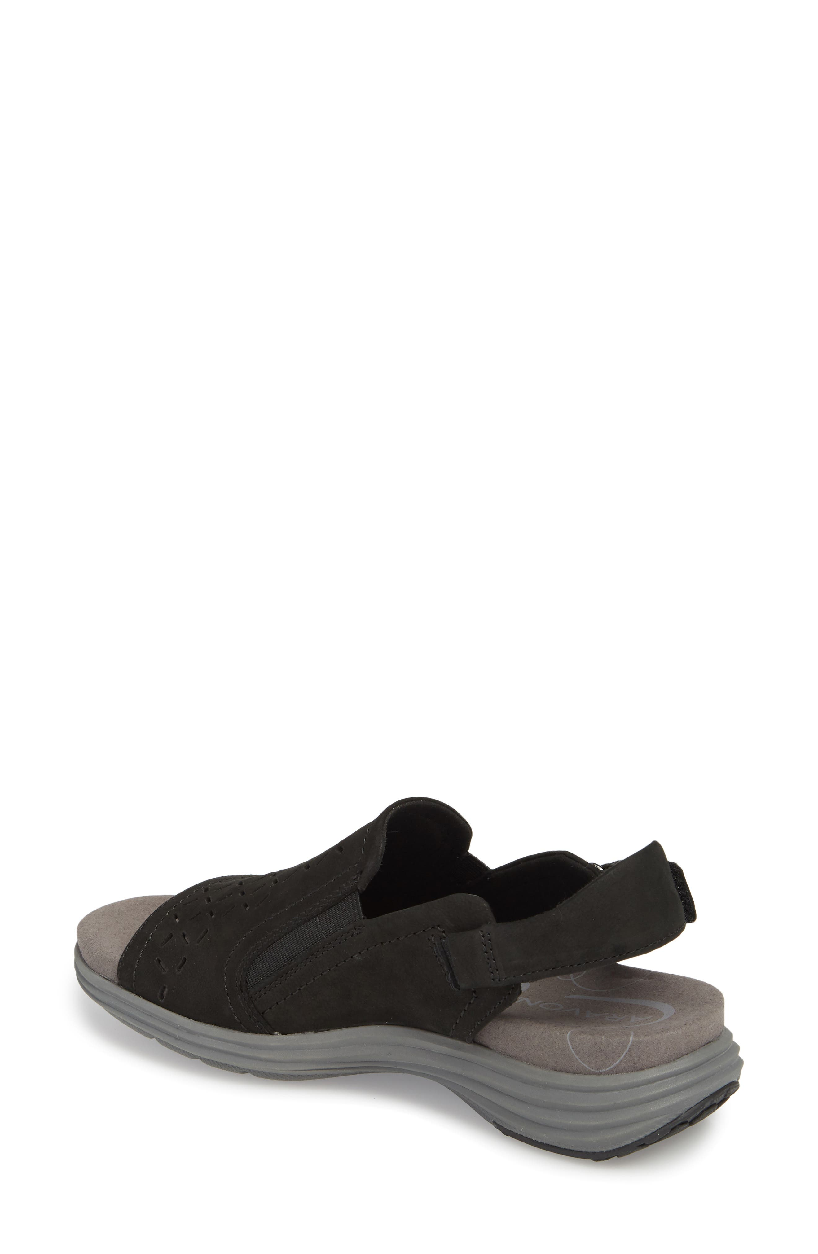 Beaumont Slingback Sandal,                             Alternate thumbnail 2, color,                             Black Nubuck Leather