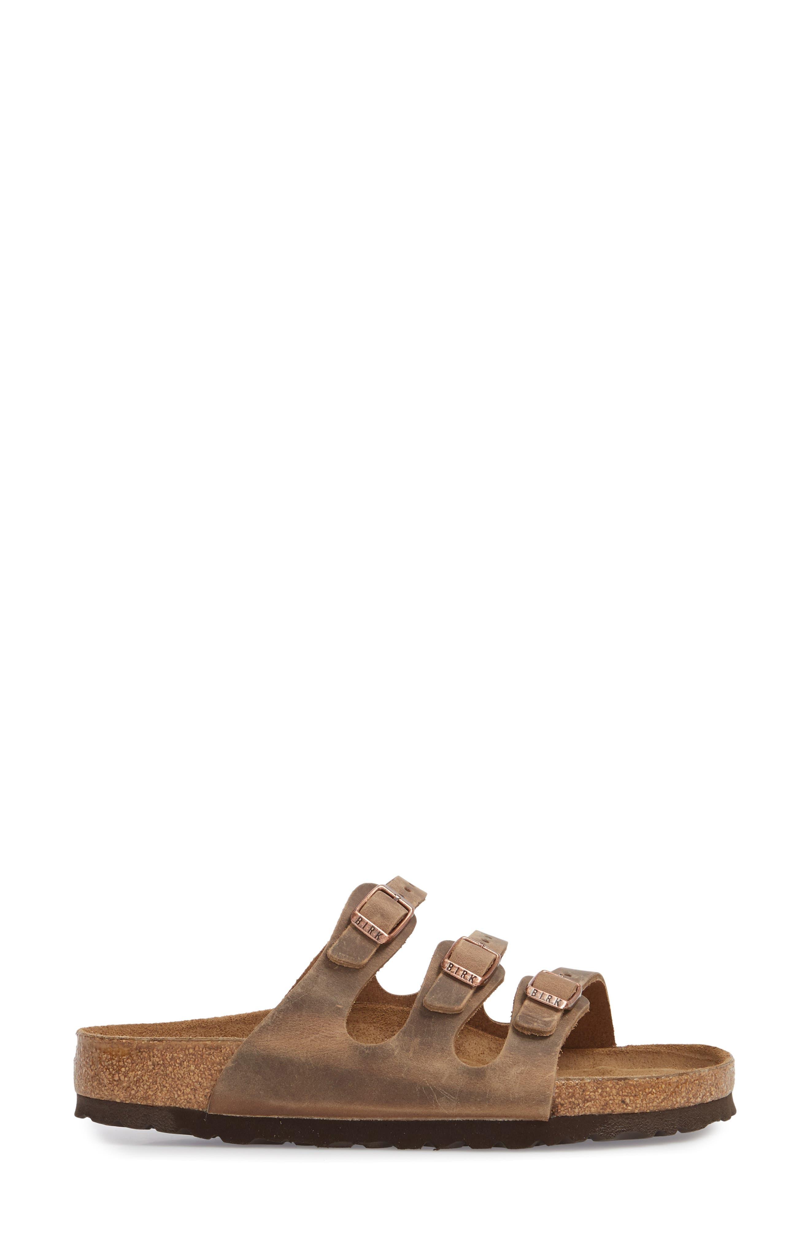 Florida Sandal,                             Alternate thumbnail 3, color,                             Tobacco Oiled Leather