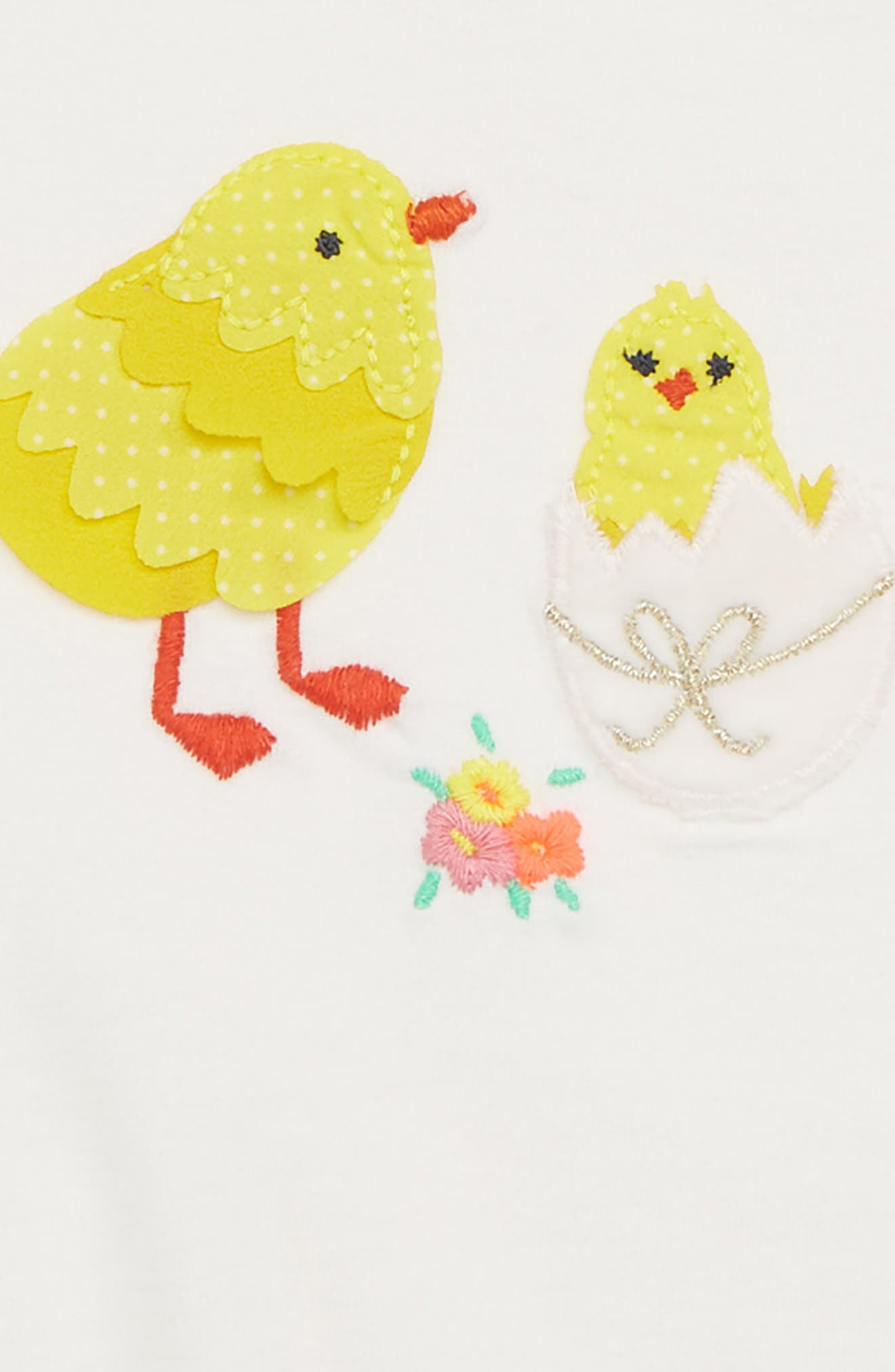 Special Easter Appliqué Tee,                             Alternate thumbnail 2, color,                             Ivory Bird Ivo