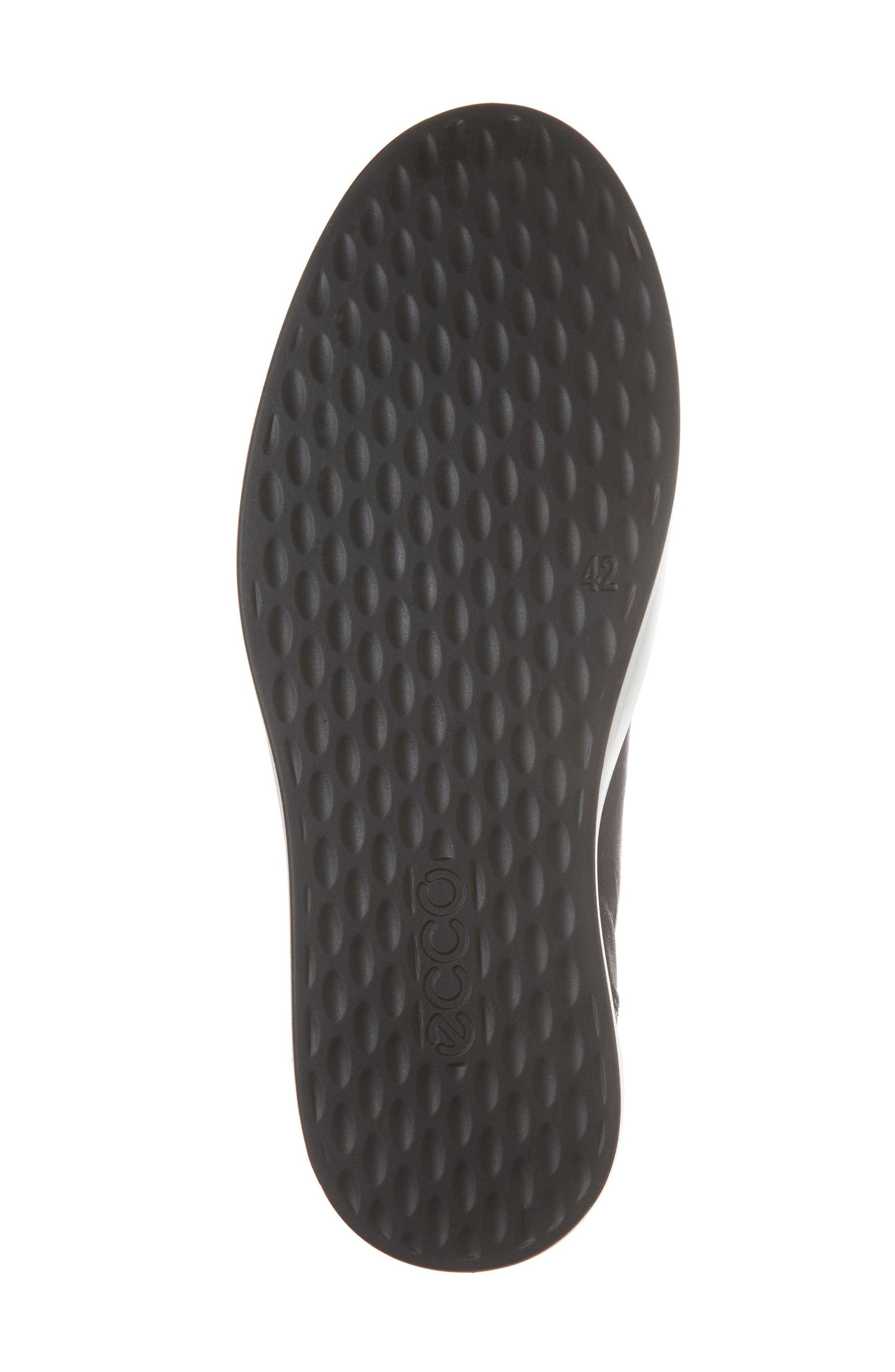 Soft 8 Sneaker,                             Alternate thumbnail 6, color,                             Black/Black Leather