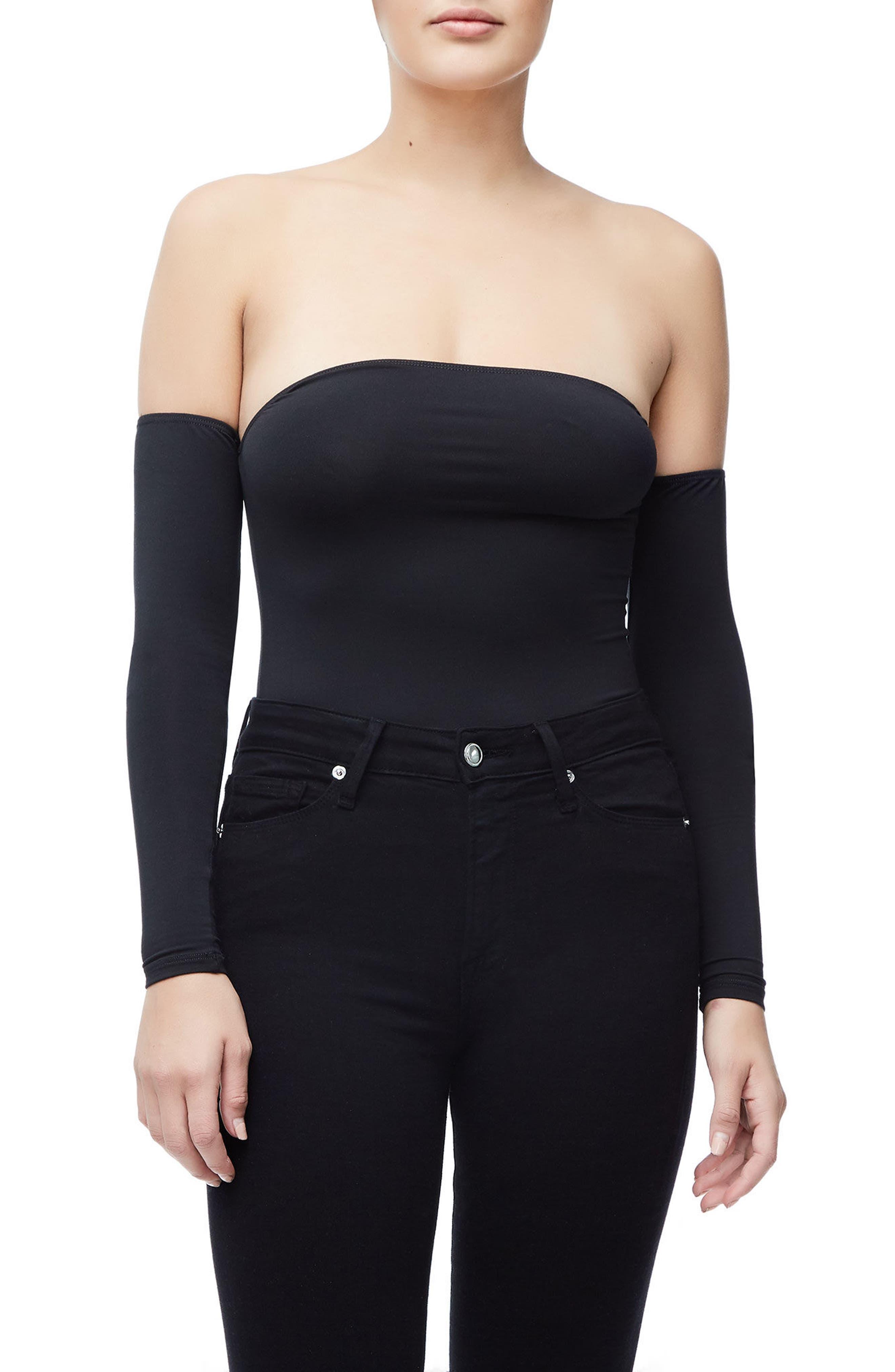 Good Body Sporty Off the Shoulder Thong Bodysuit,                             Alternate thumbnail 2, color,                             Black001