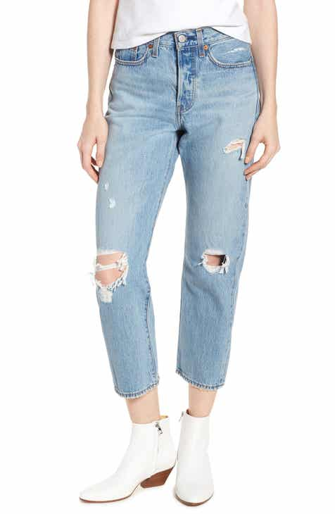 Levi's® Wedgie Ripped Straight Leg Jeans (Authentically Yours) by LEVIS