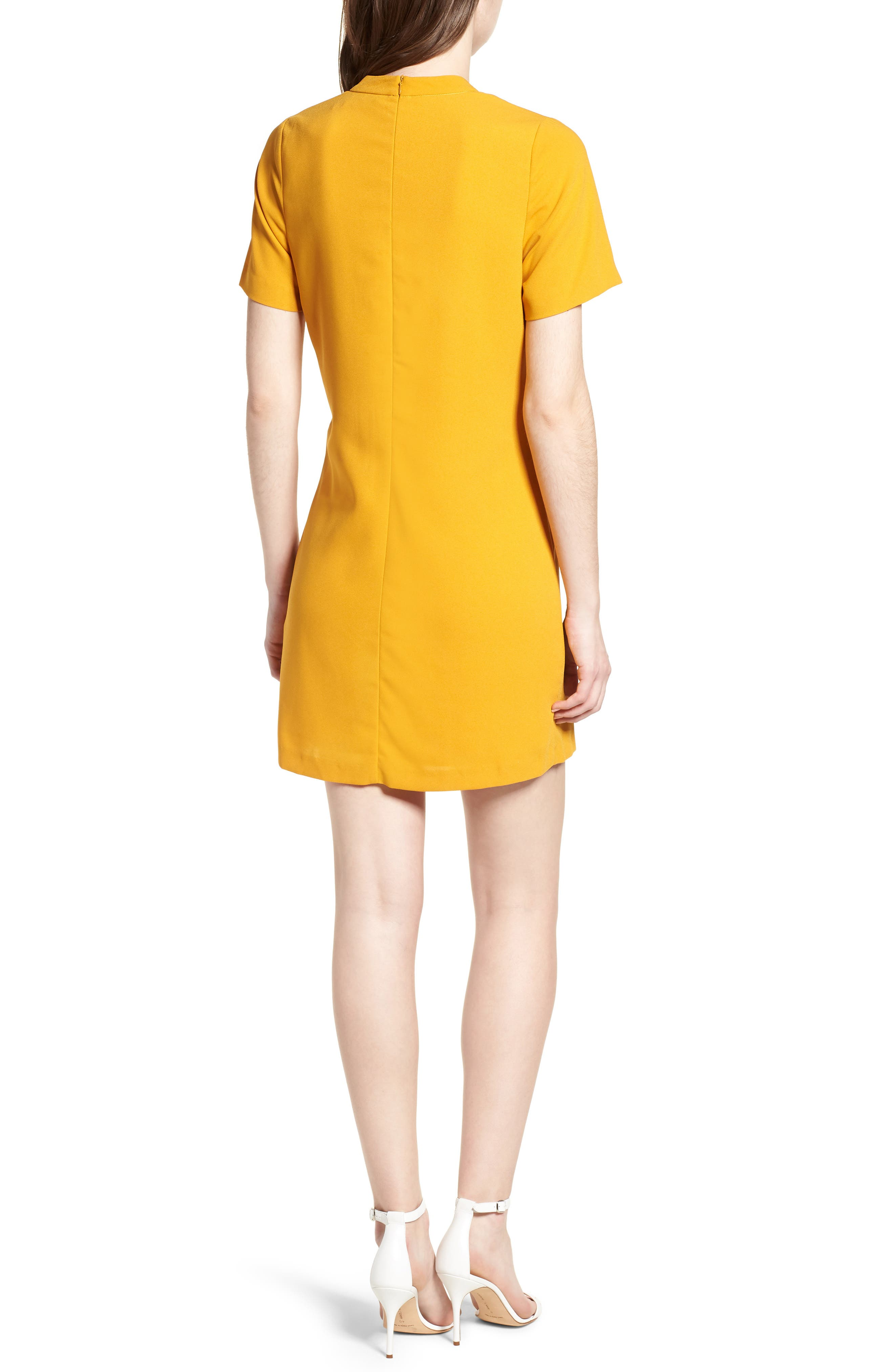 Bishop + Young Sasha Shift Dress,                             Alternate thumbnail 2, color,                             Mustard