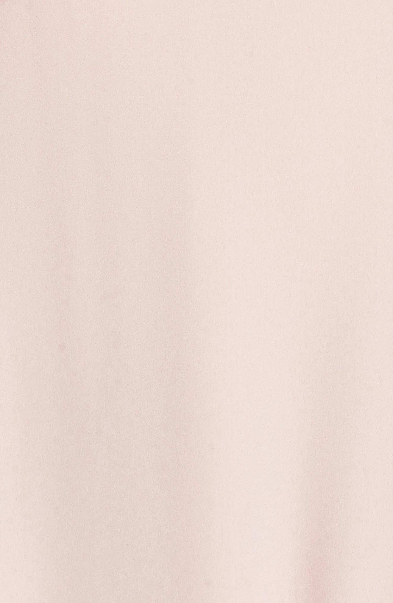 Tango Ruffle Gown,                             Alternate thumbnail 5, color,                             Dusty Blush Crisp