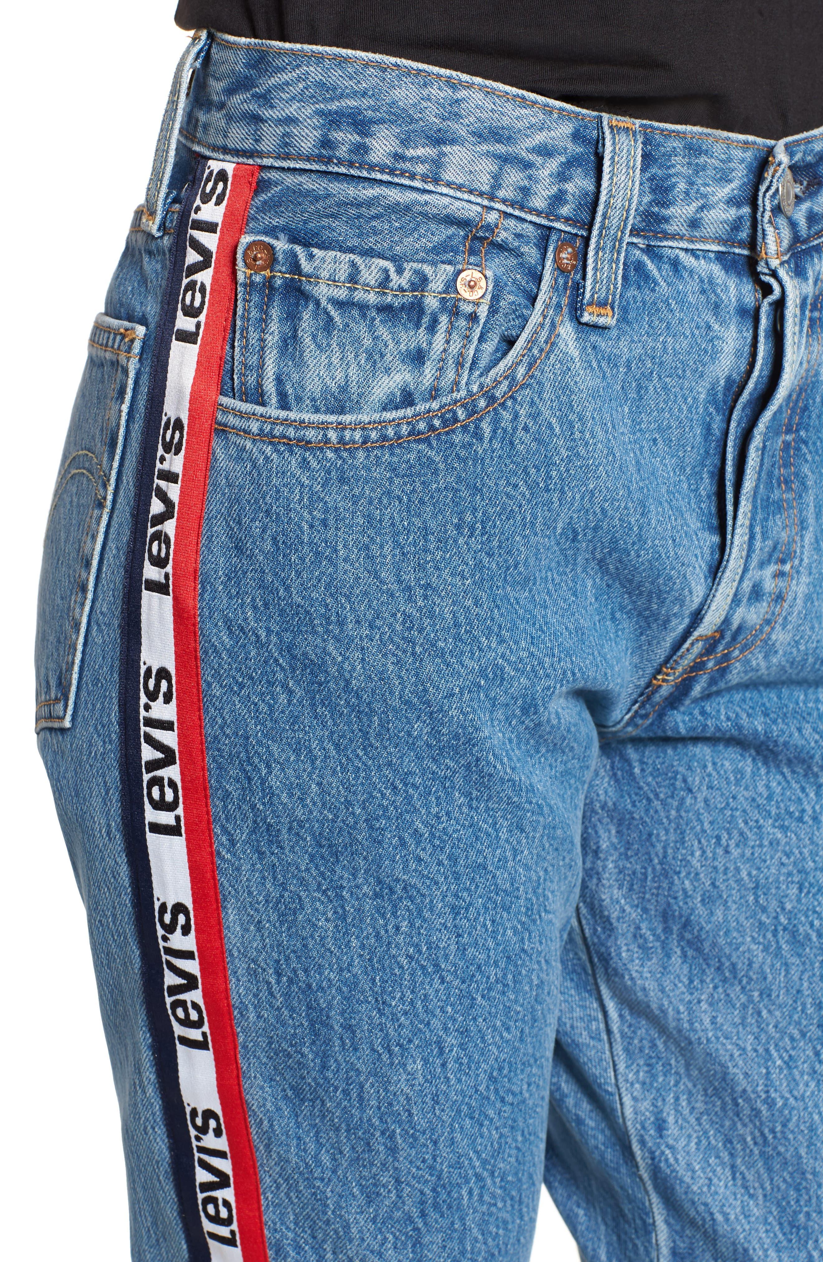 501 High Waist Crop Jeans,                             Alternate thumbnail 4, color,                             Spectator Sport