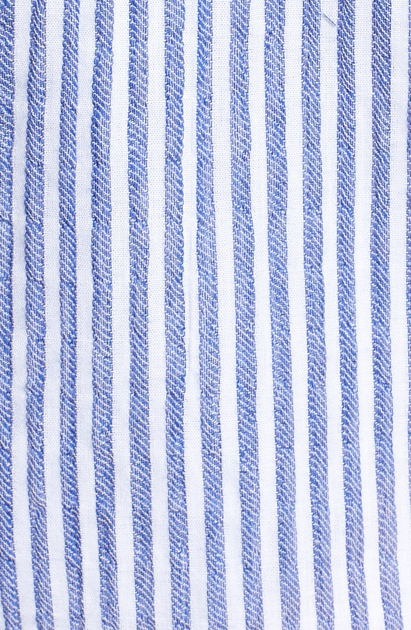 Bishop + Young Stripe Shorts,                             Alternate thumbnail 5, color,                             Blue White Stripe