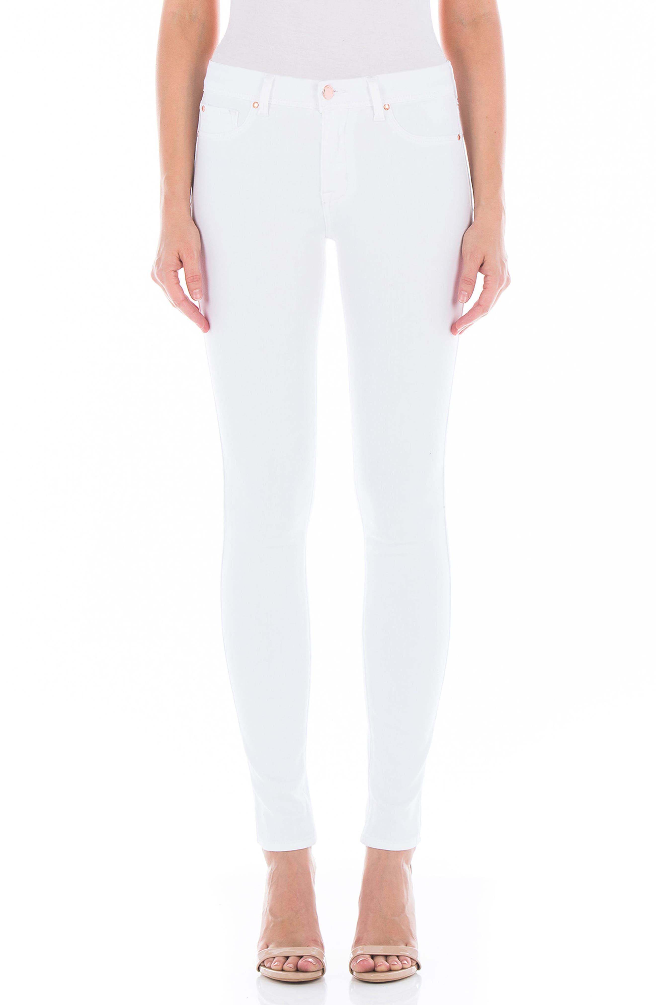 Belvedere Skinny Jeans,                         Main,                         color, White