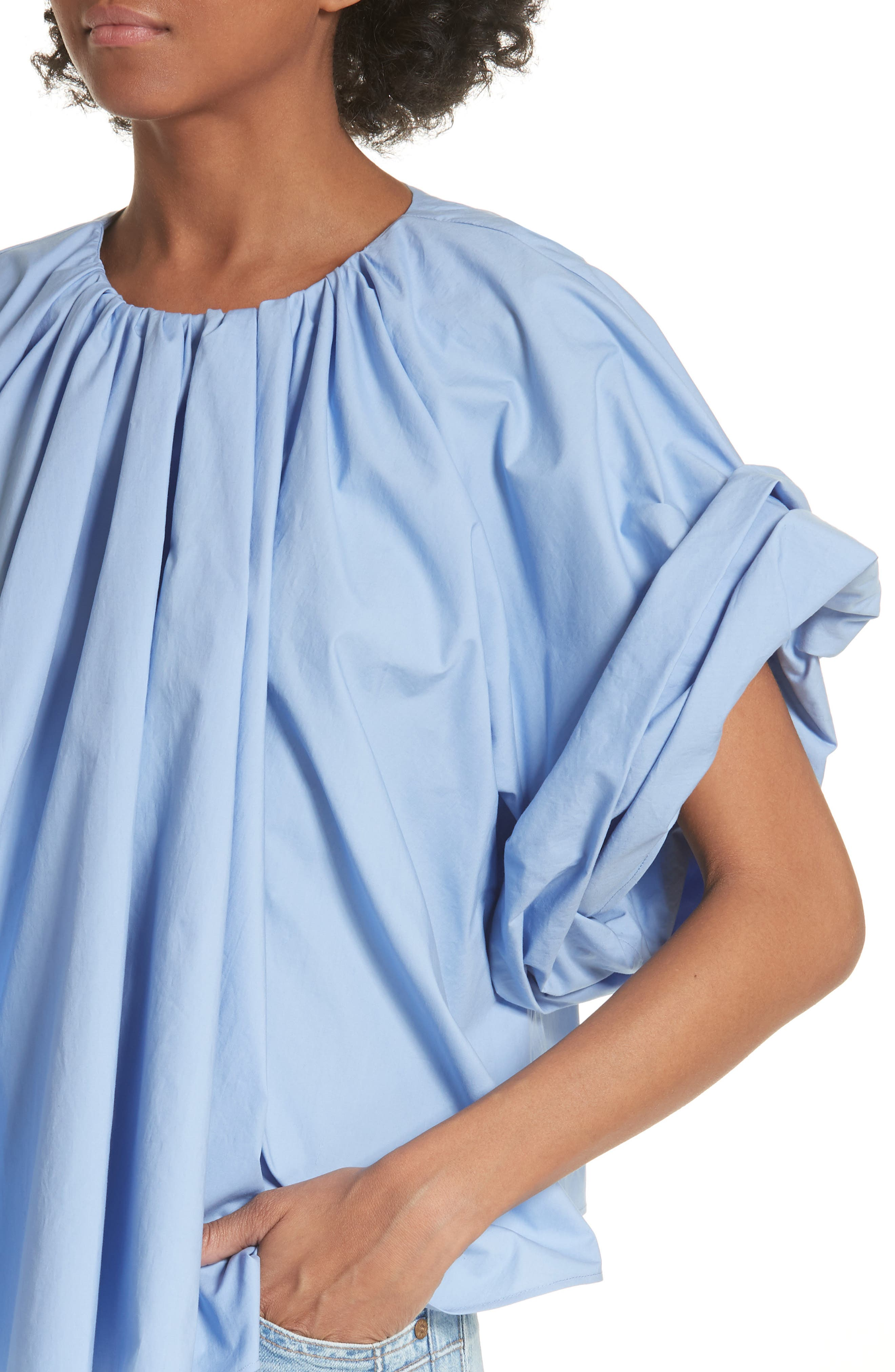 Wide Sleeve Top,                             Alternate thumbnail 4, color,                             Blue