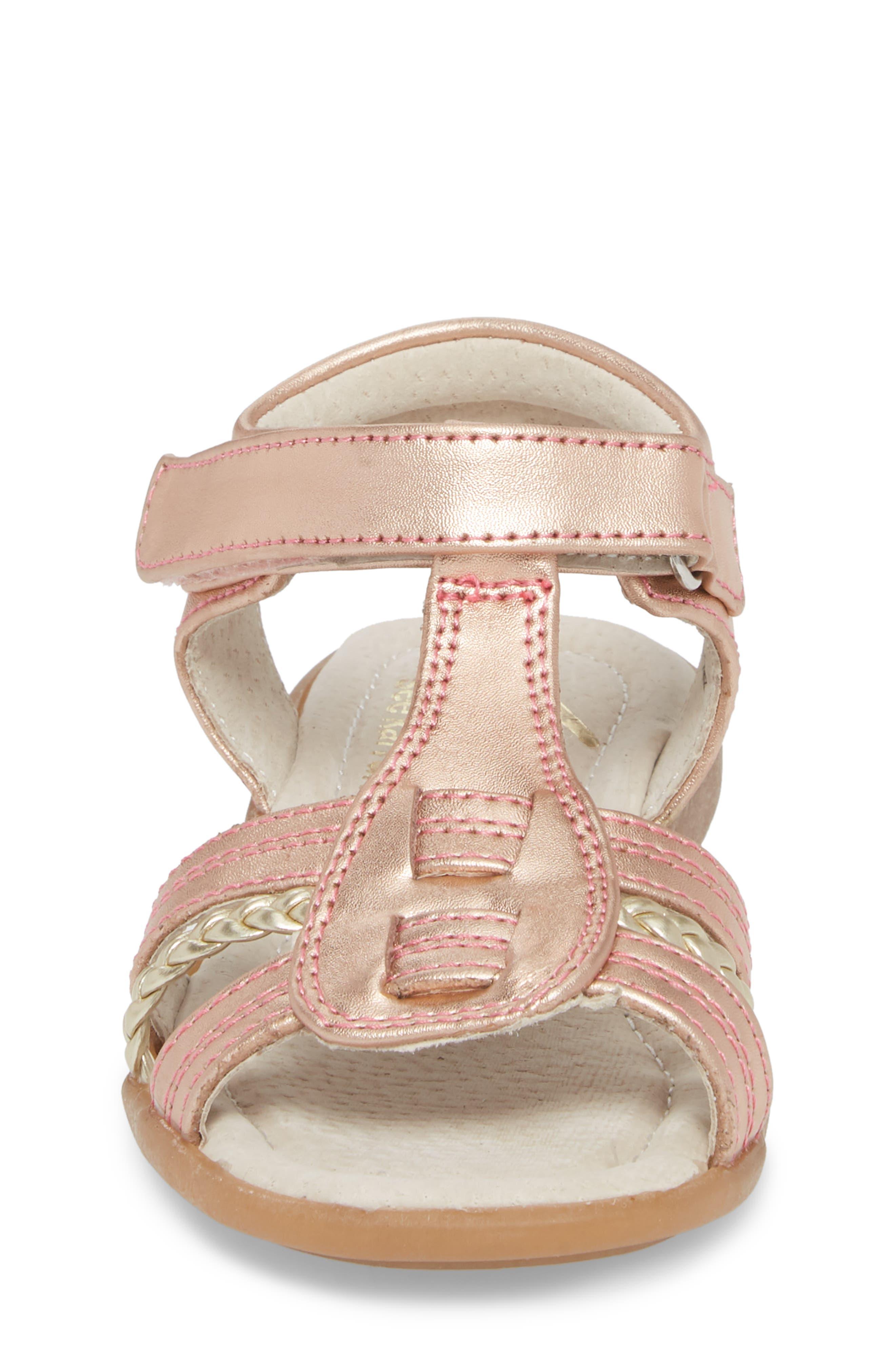Hadley Metallic Sandal,                             Alternate thumbnail 4, color,                             Rose Gold
