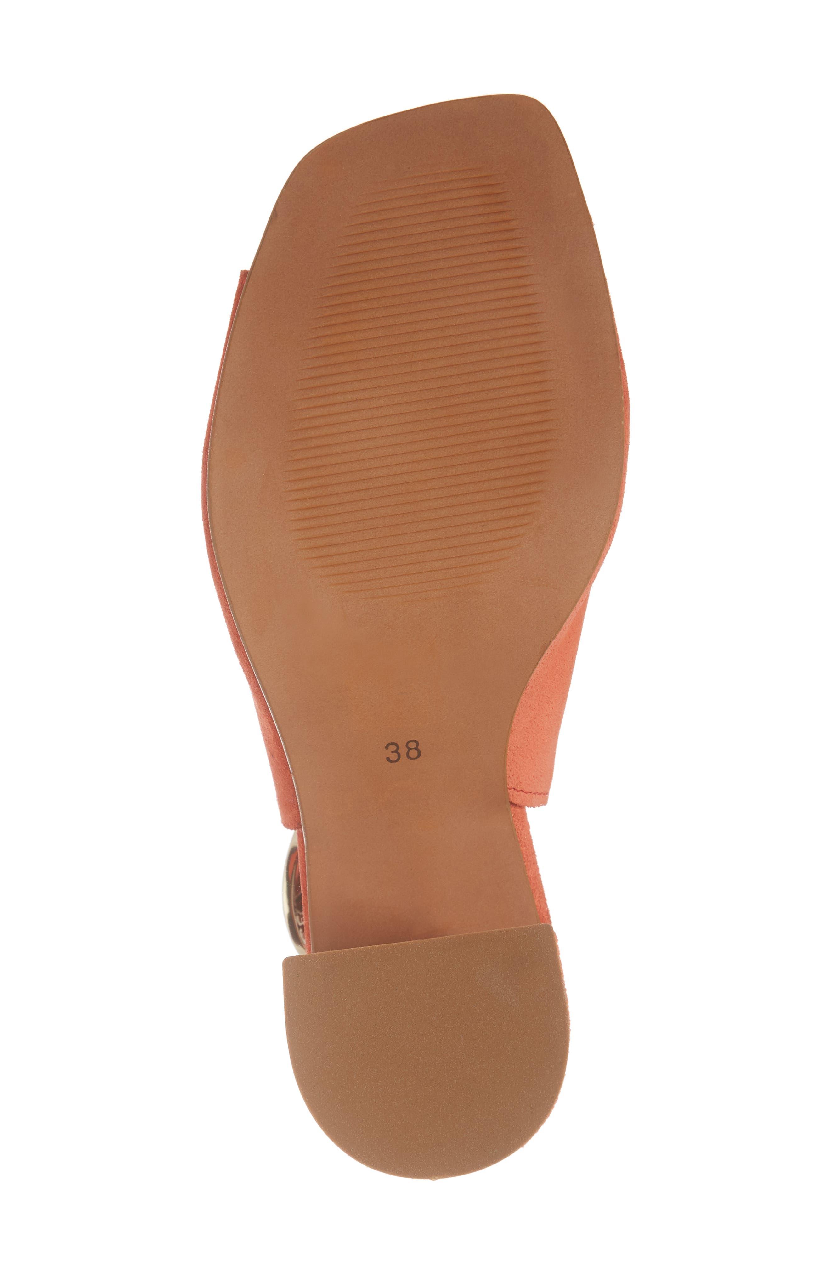 Nika Flared Heel Slingback Sandal,                             Alternate thumbnail 6, color,                             Orange