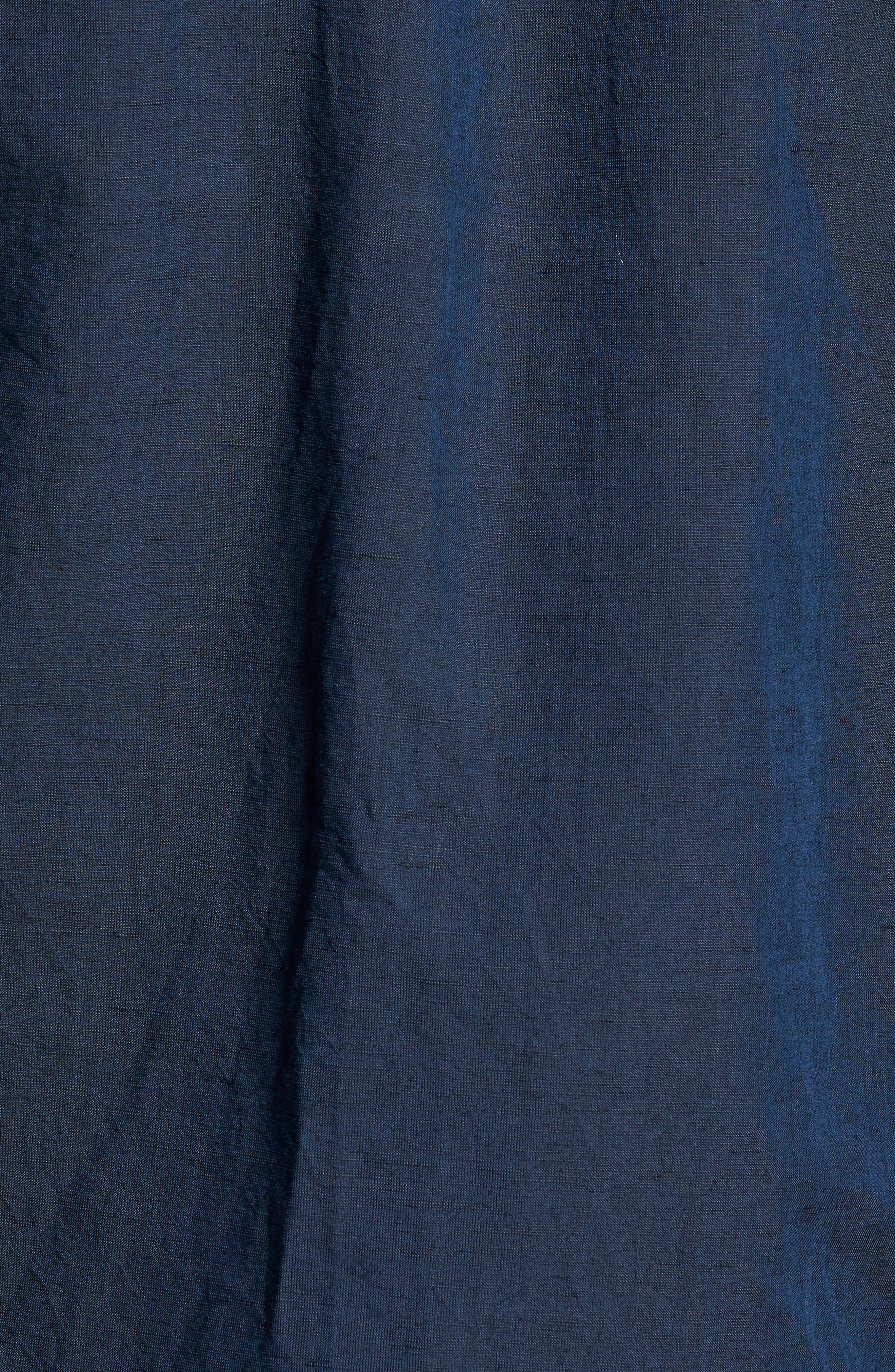 Edward Regular Fit Linen & Cotton Sport Shirt,                             Alternate thumbnail 5, color,                             Finch
