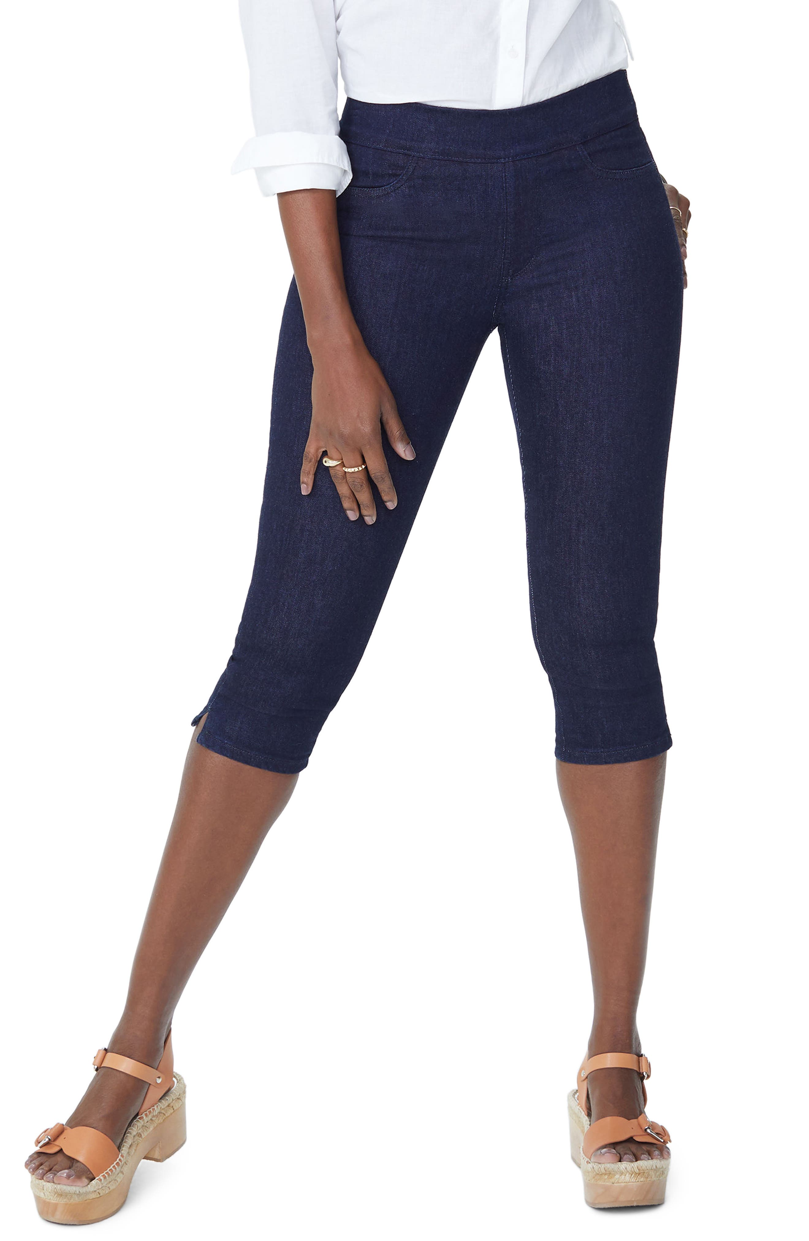 Pull-On Stretch Skinny Capri Jeans,                         Main,                         color, Rinse