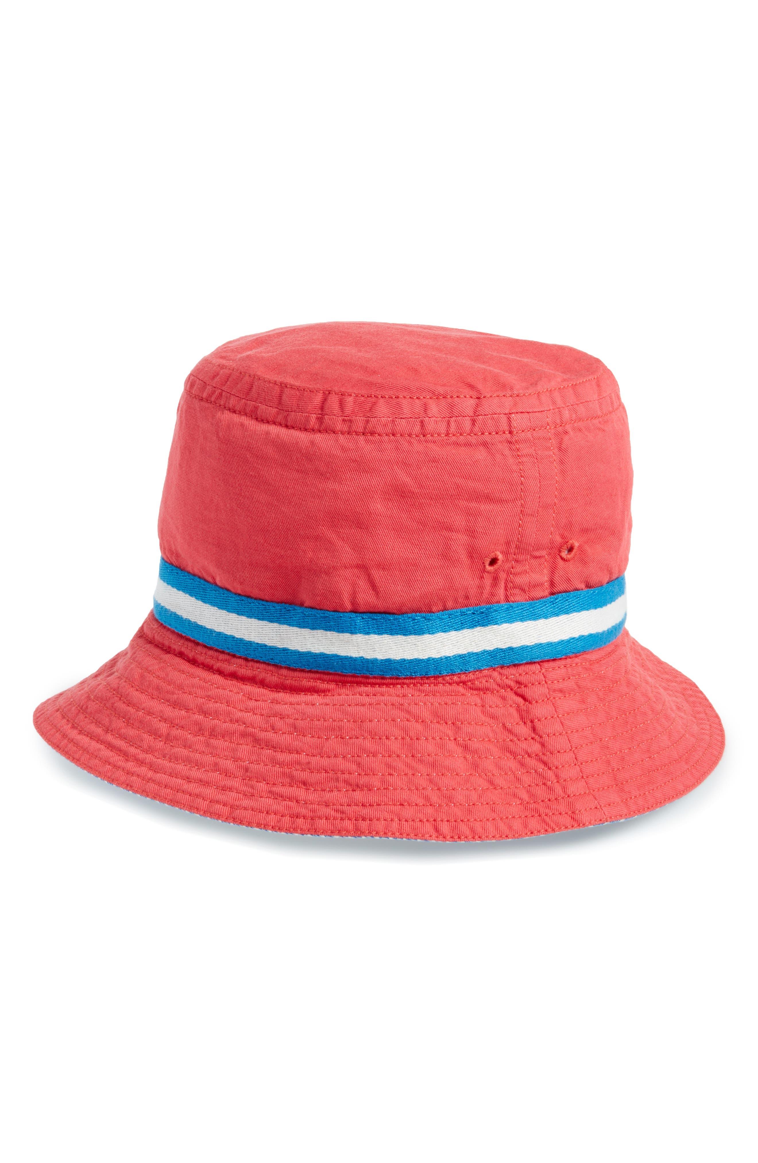 Fisherman's Hat,                             Main thumbnail 1, color,                             Jam Red