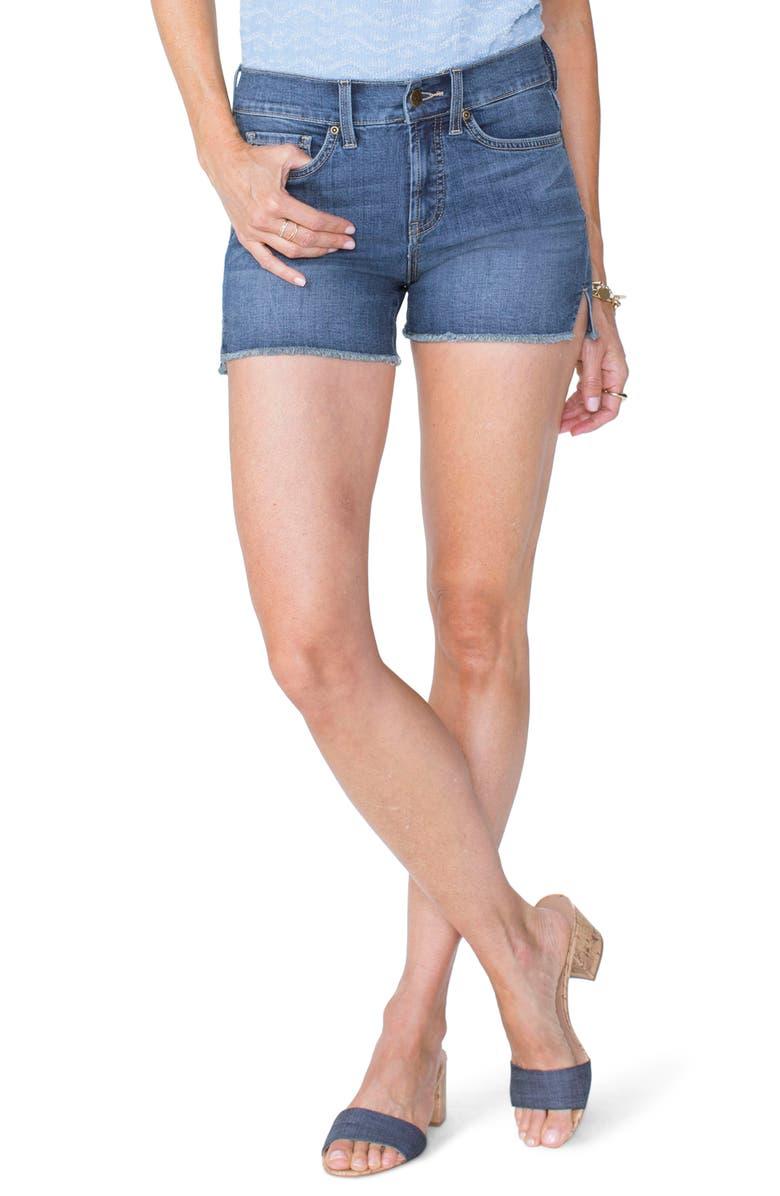 Frayed Hem Jean Shorts
