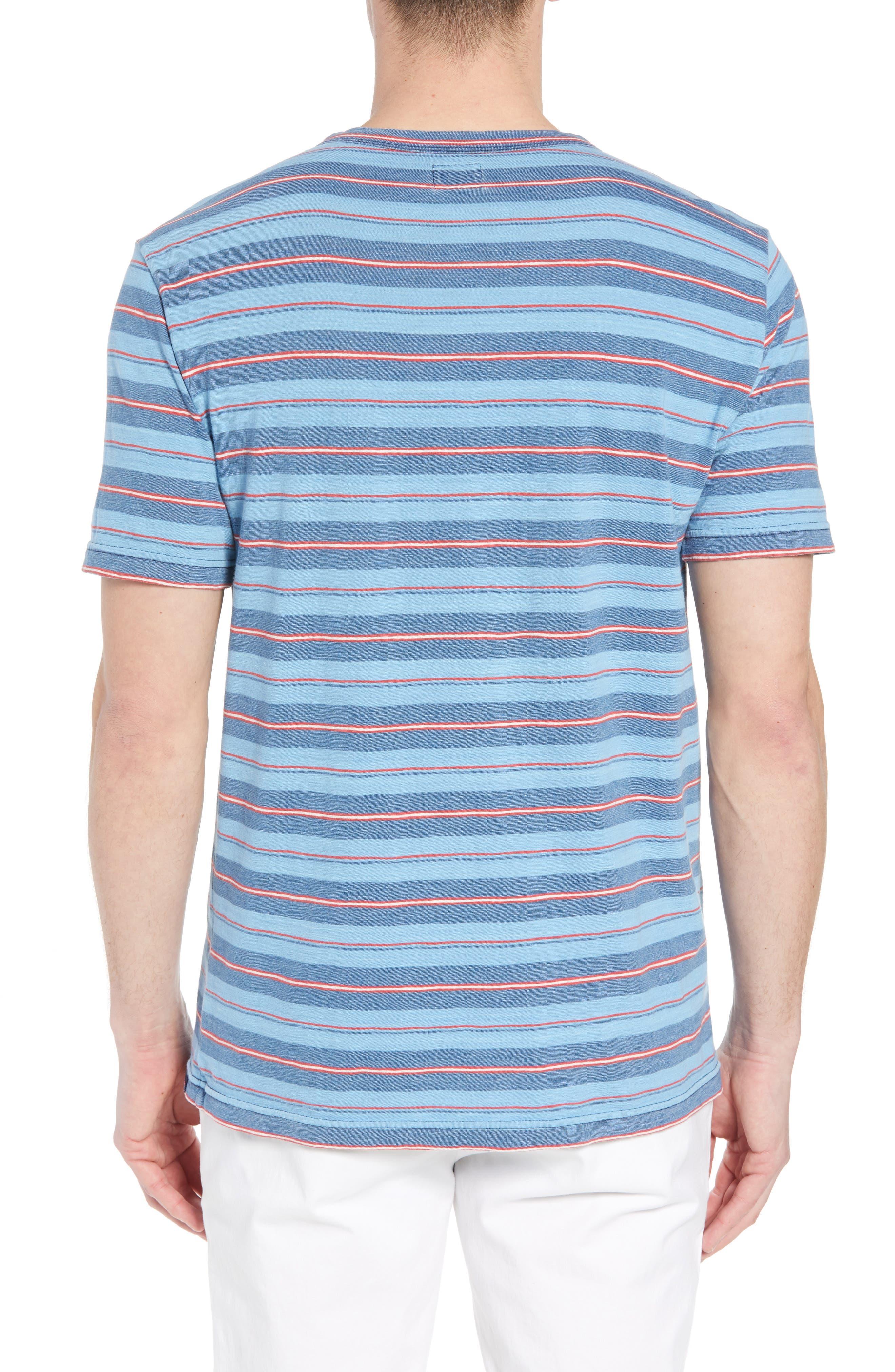Vintage Stripe Pocket T-Shirt,                             Alternate thumbnail 2, color,                             Indigo Multi