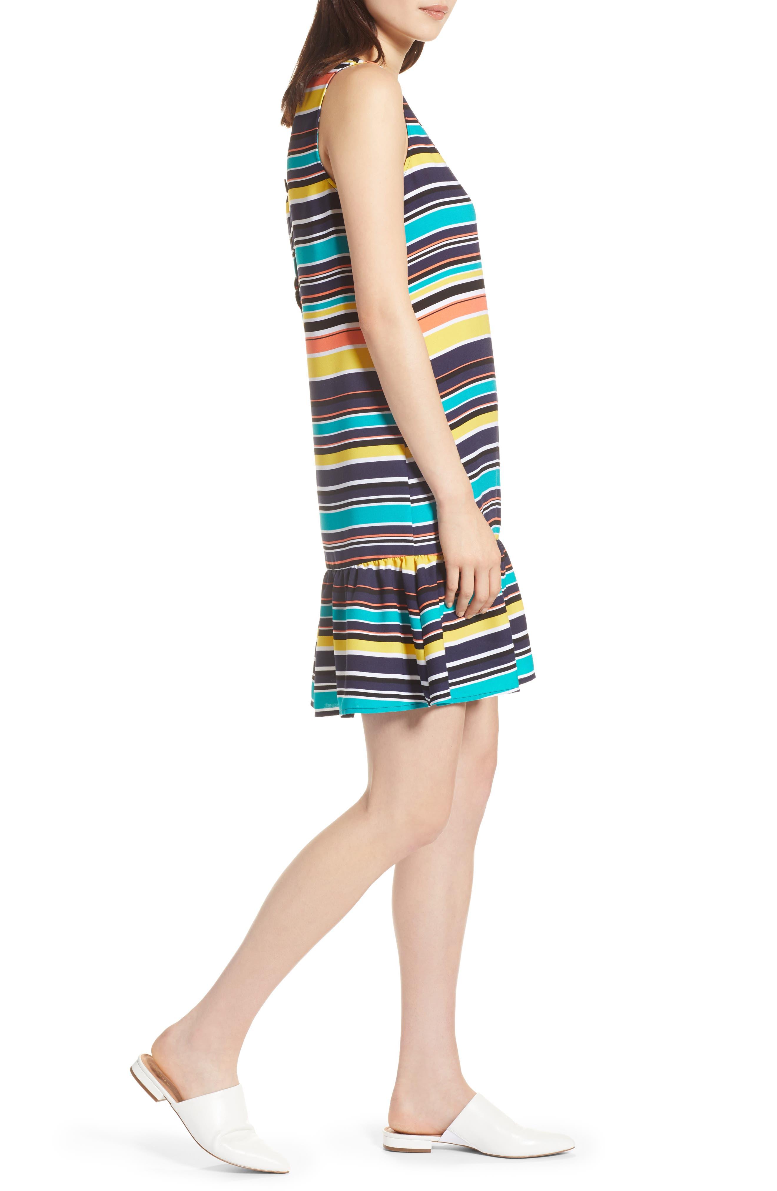 Alternate Image 3  - Halogen® Ruffle Hem Shift Dress (Regular & Petite)