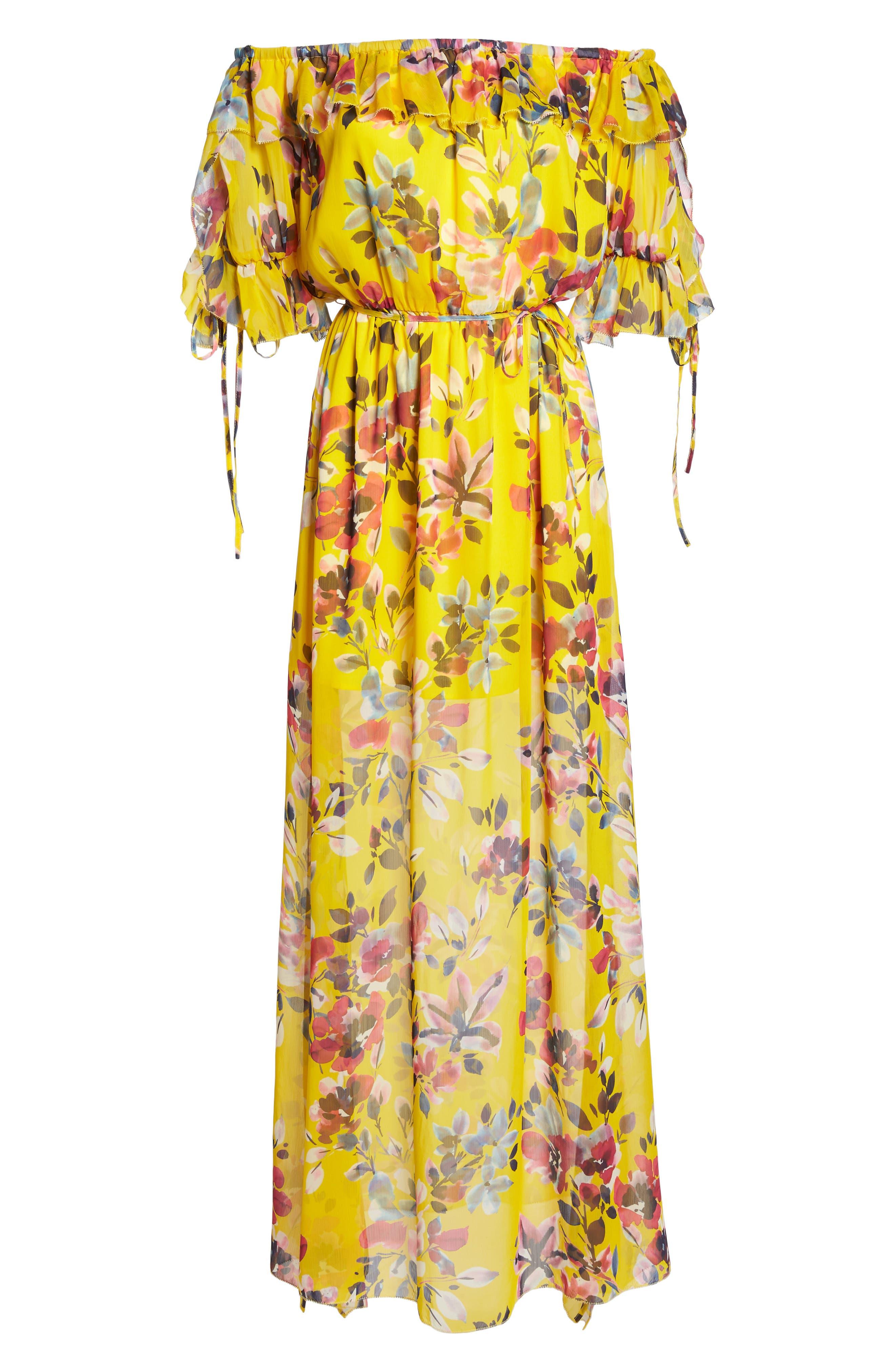 Linosa Crinkle Maxi Dress,                             Alternate thumbnail 7, color,                             Citrus