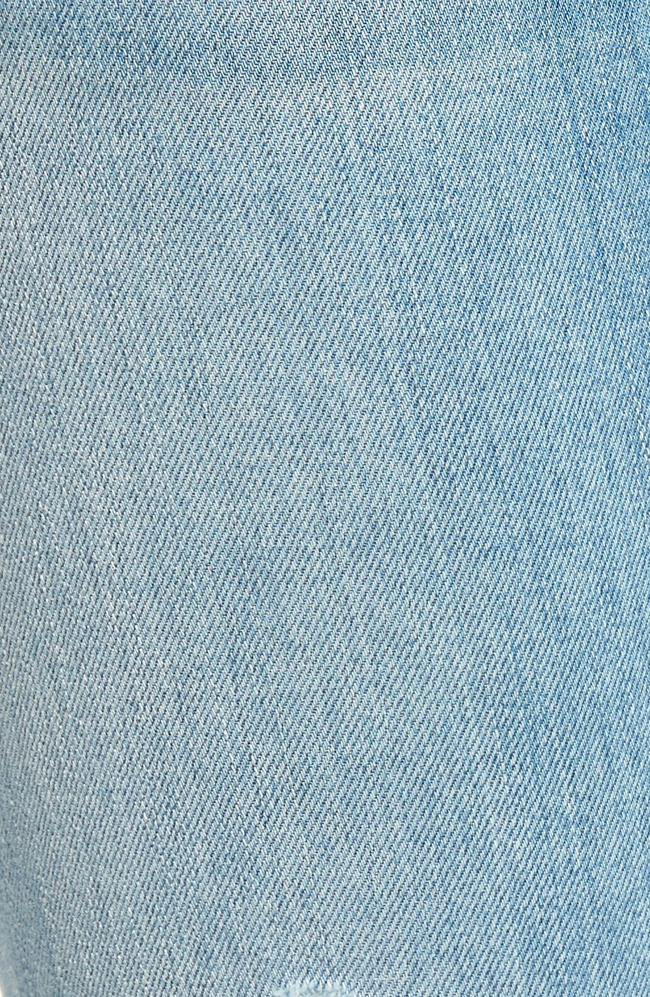 Tally Crop Skinny Jeans,                             Alternate thumbnail 6, color,                             Sugarcoat