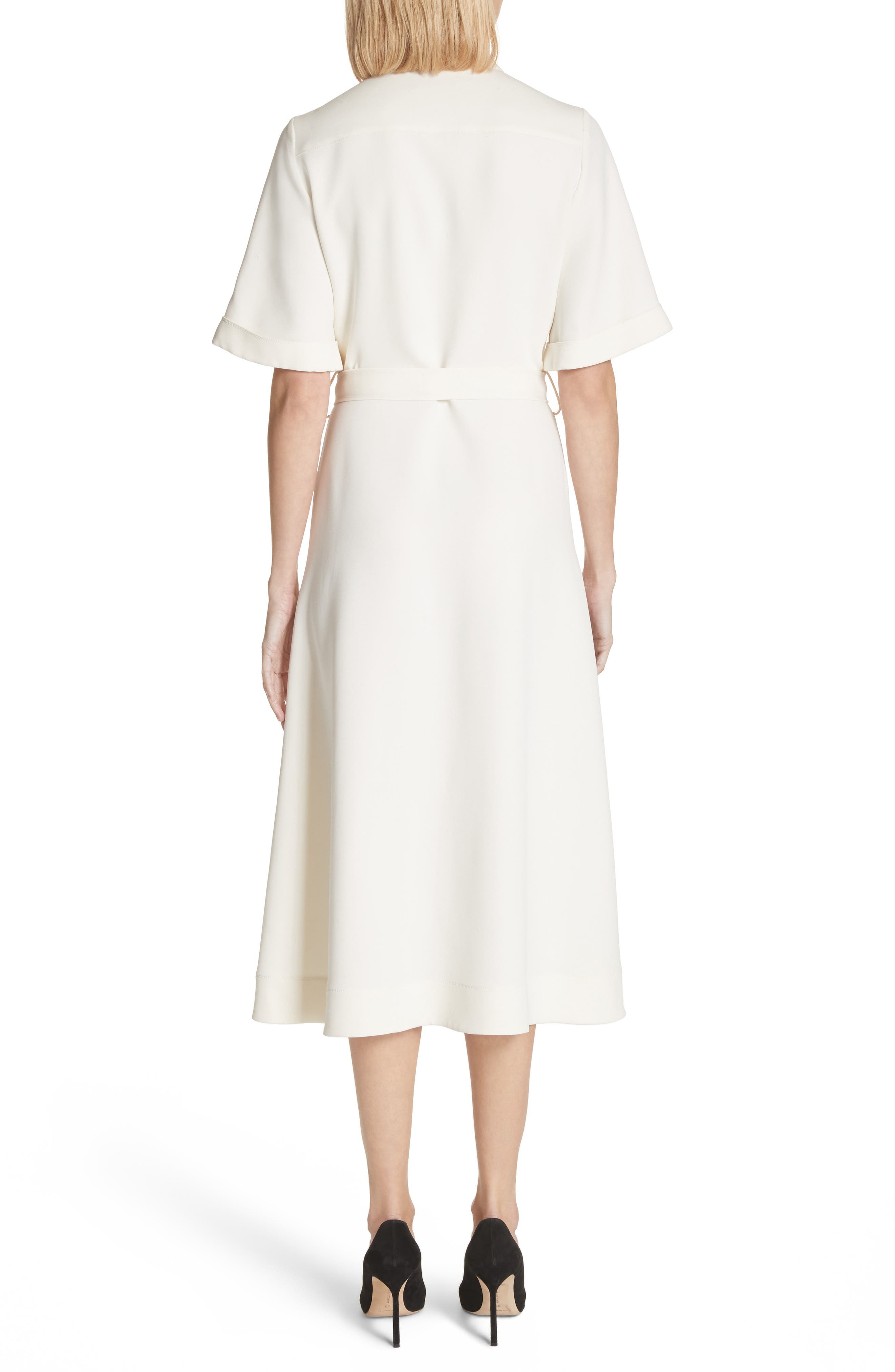 Carmen Belted Shirtdress,                             Alternate thumbnail 2, color,                             Off White