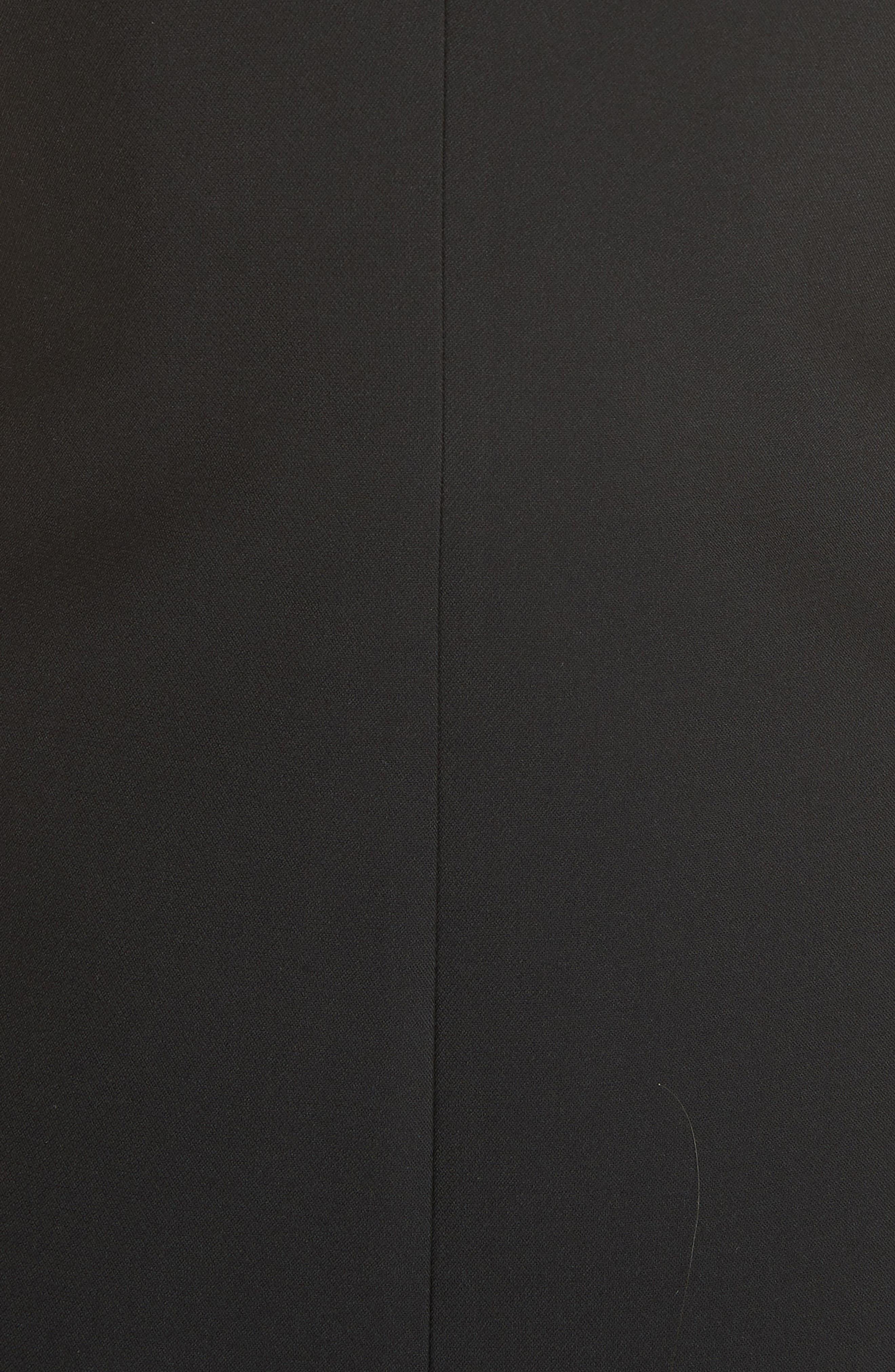 Zip Front A-Line Dress,                             Alternate thumbnail 5, color,                             Black