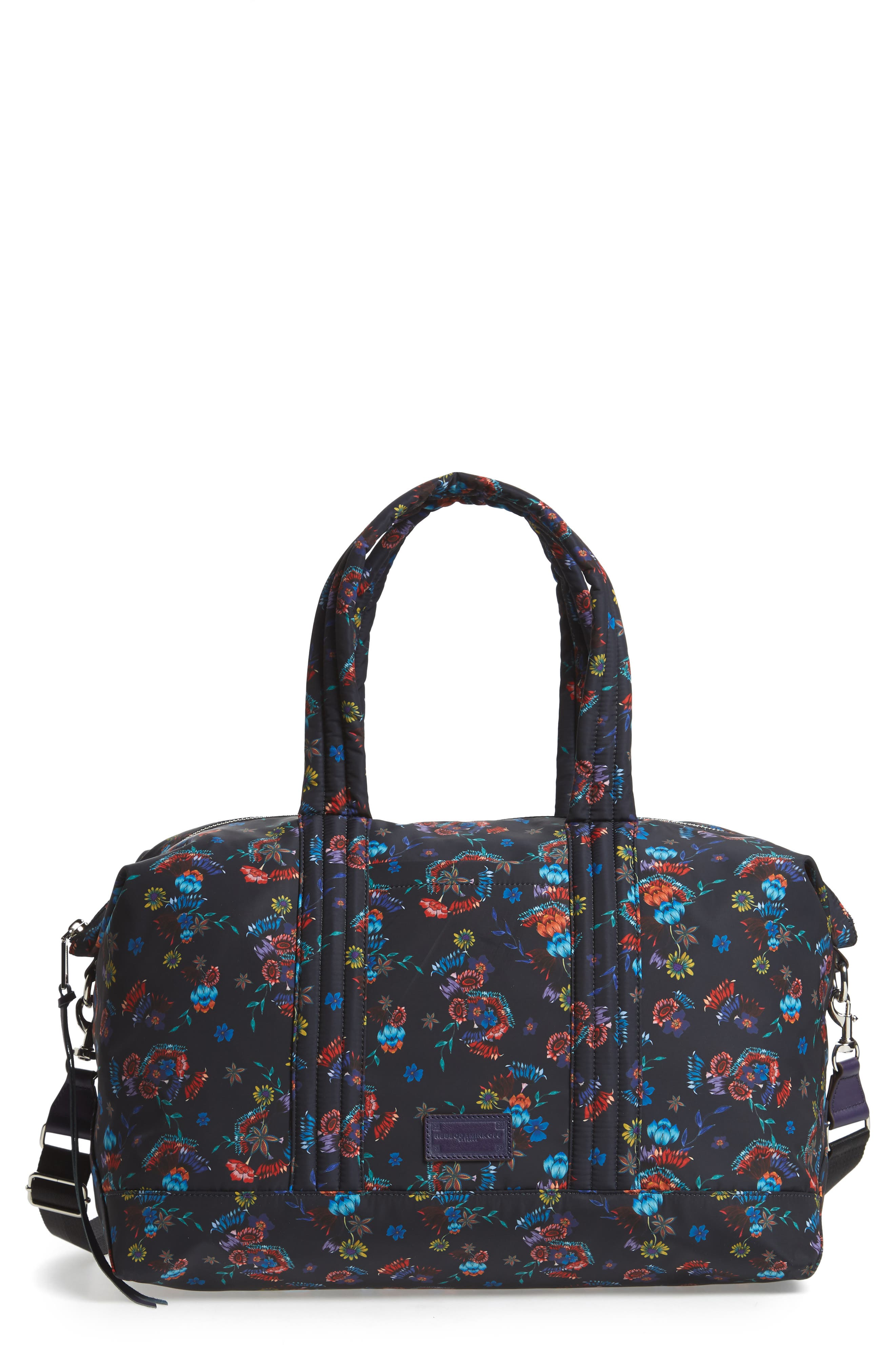 Weekend Nylon Duffel Bag,                         Main,                         color, Floral Blue