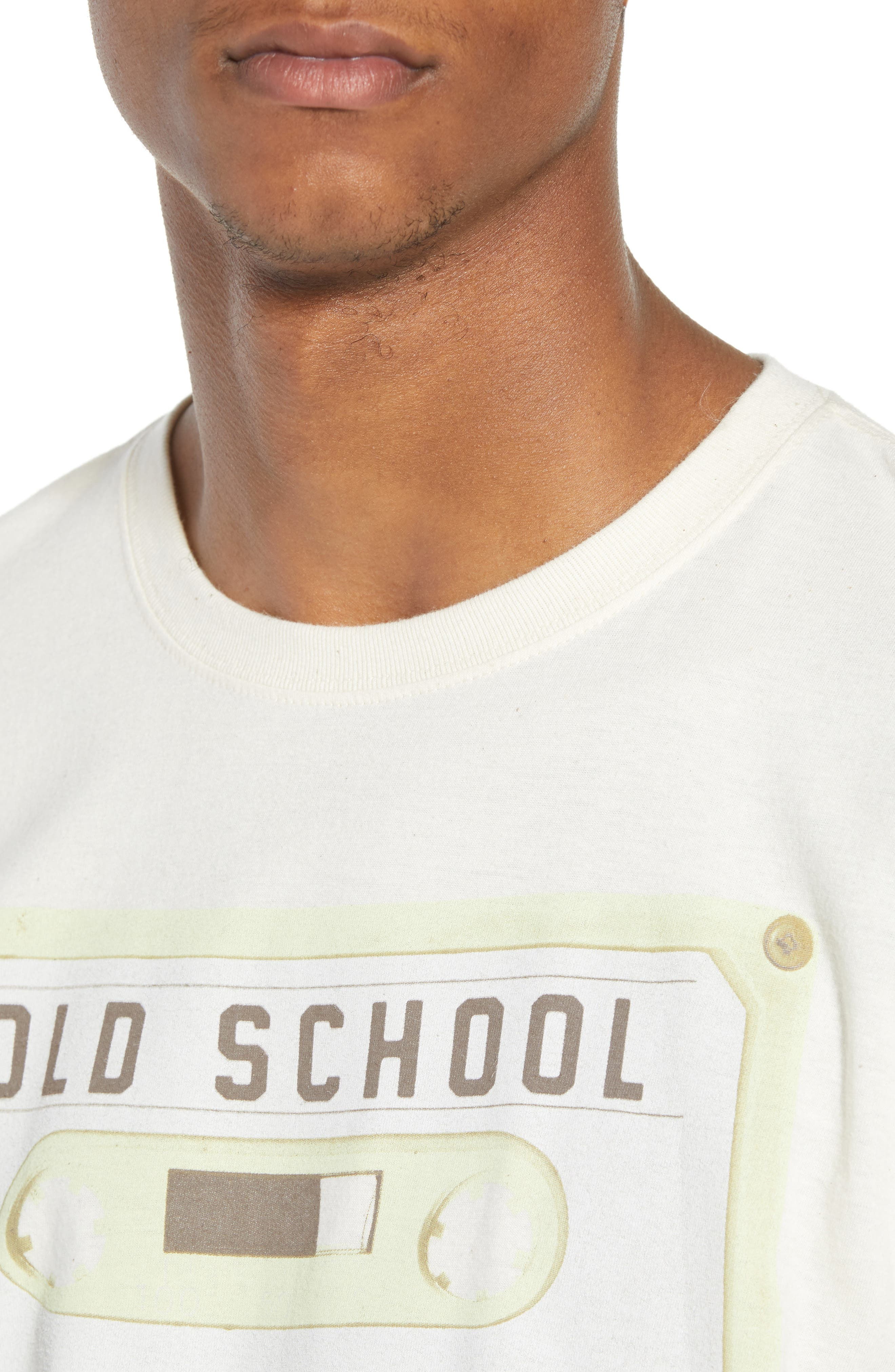 Old School T-Shirt,                             Alternate thumbnail 4, color,                             Ivory Old School