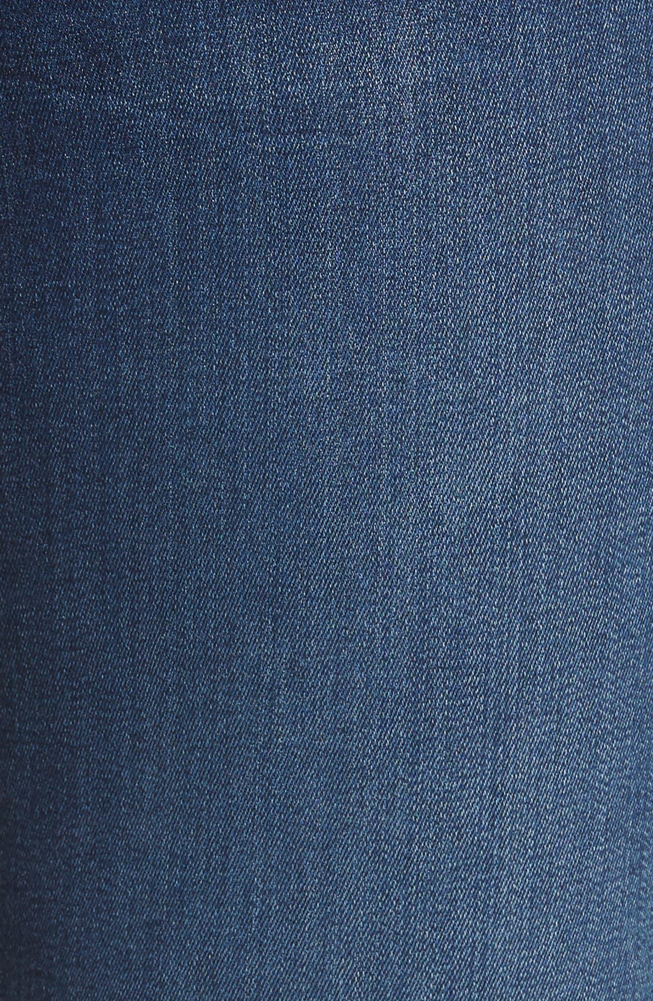 b(air) - Aubrey High Waist Skinny Jeans,                             Alternate thumbnail 6, color,                             Bair Fresh Rinse