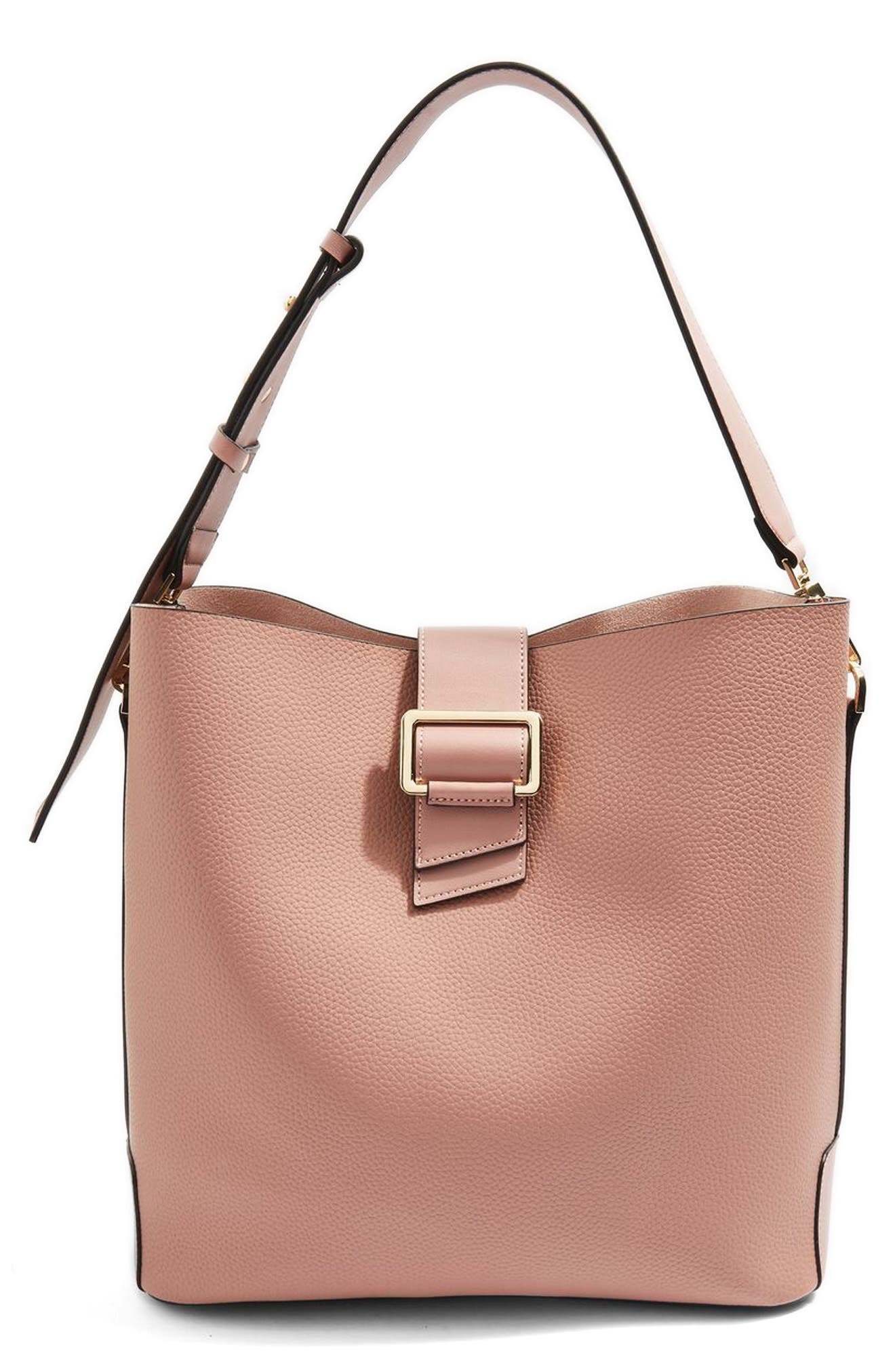 Seema Buckle Hobo Bag,                             Main thumbnail 1, color,                             Pink Multi